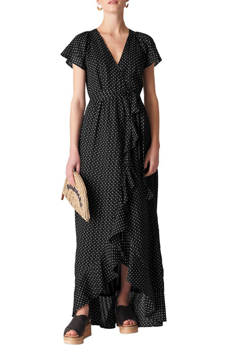 Spot Maxi Wrap Dress