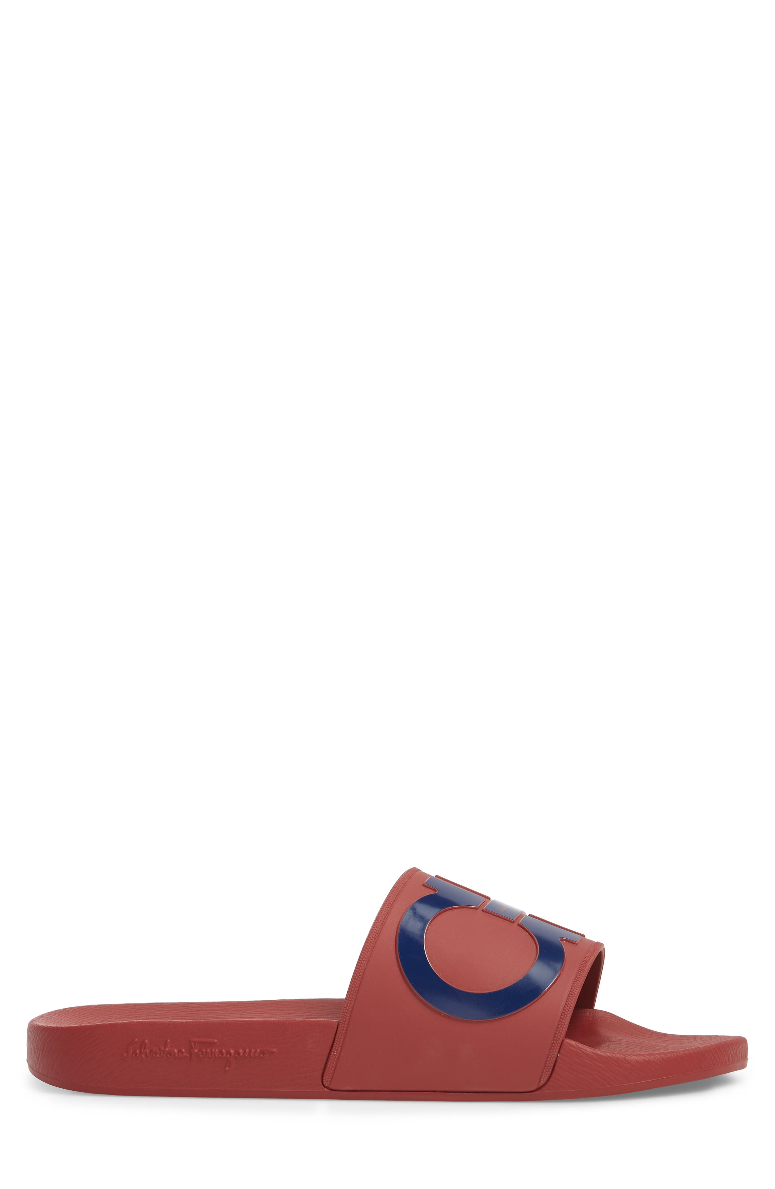 Groove Slide Sandal,                             Alternate thumbnail 3, color,                             Rouge