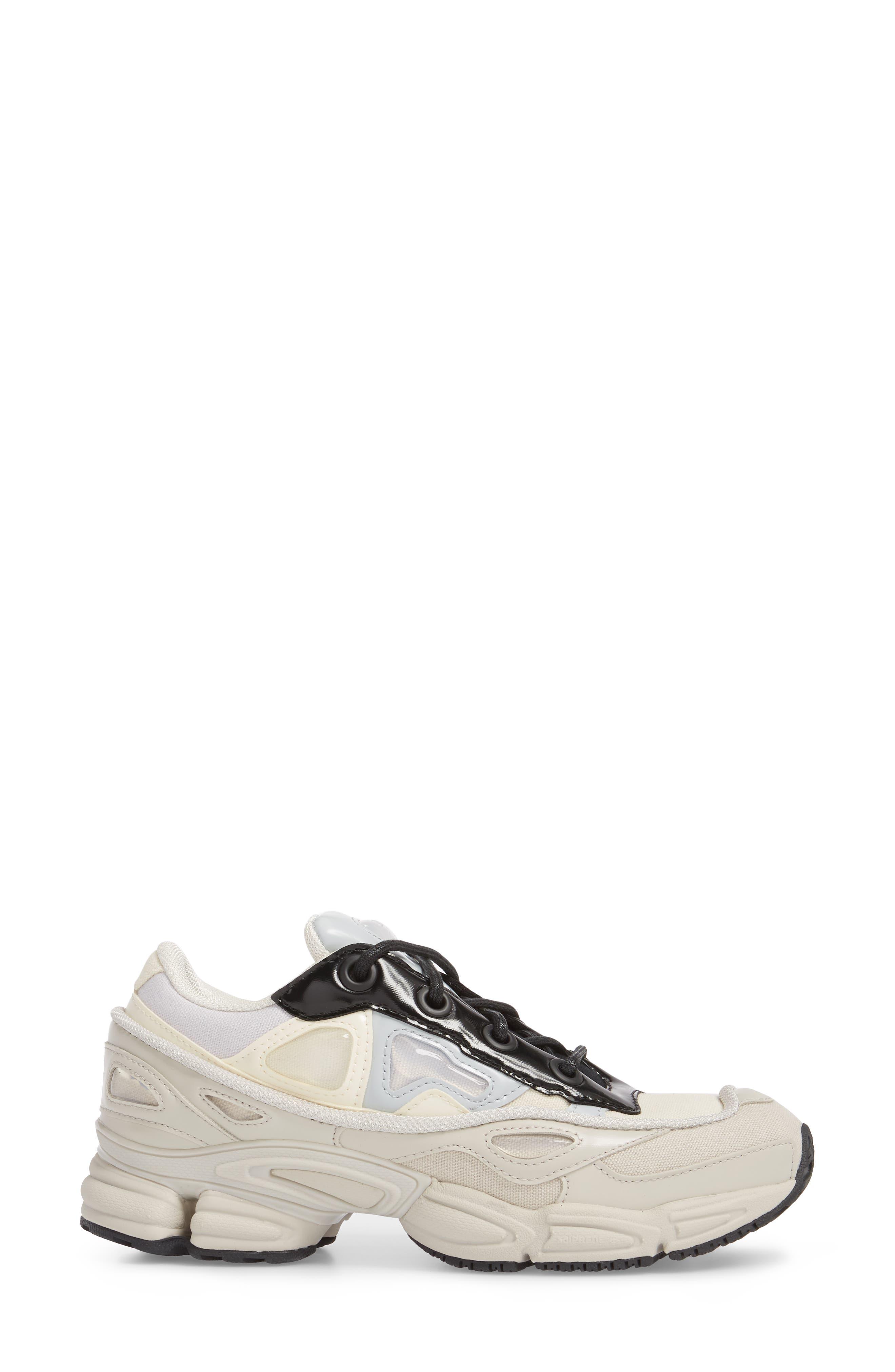 adidas by Raf Simons Ozweego III Sneaker,                             Alternate thumbnail 3, color,                             Cream White/ Mist Stone/ Black