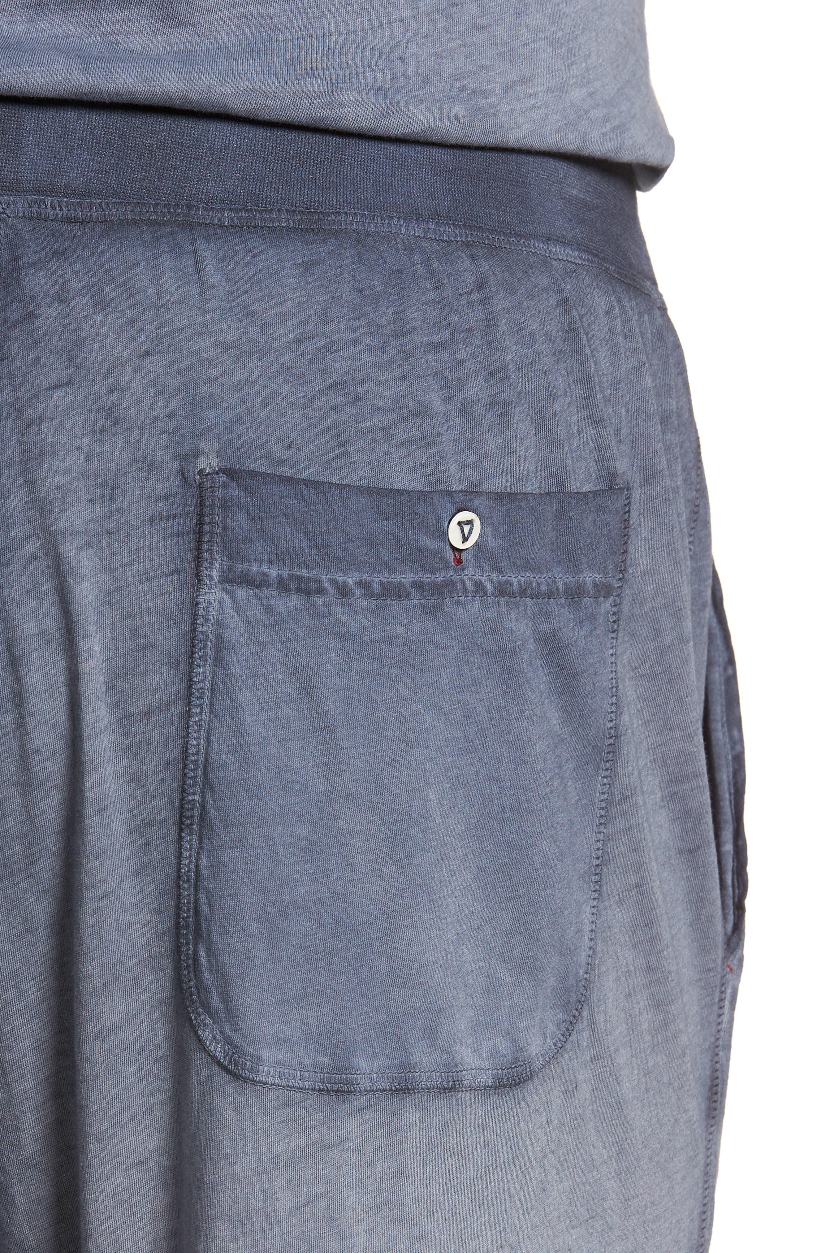 Cotton Lounge Pants,                             Alternate thumbnail 4, color,                             Navy