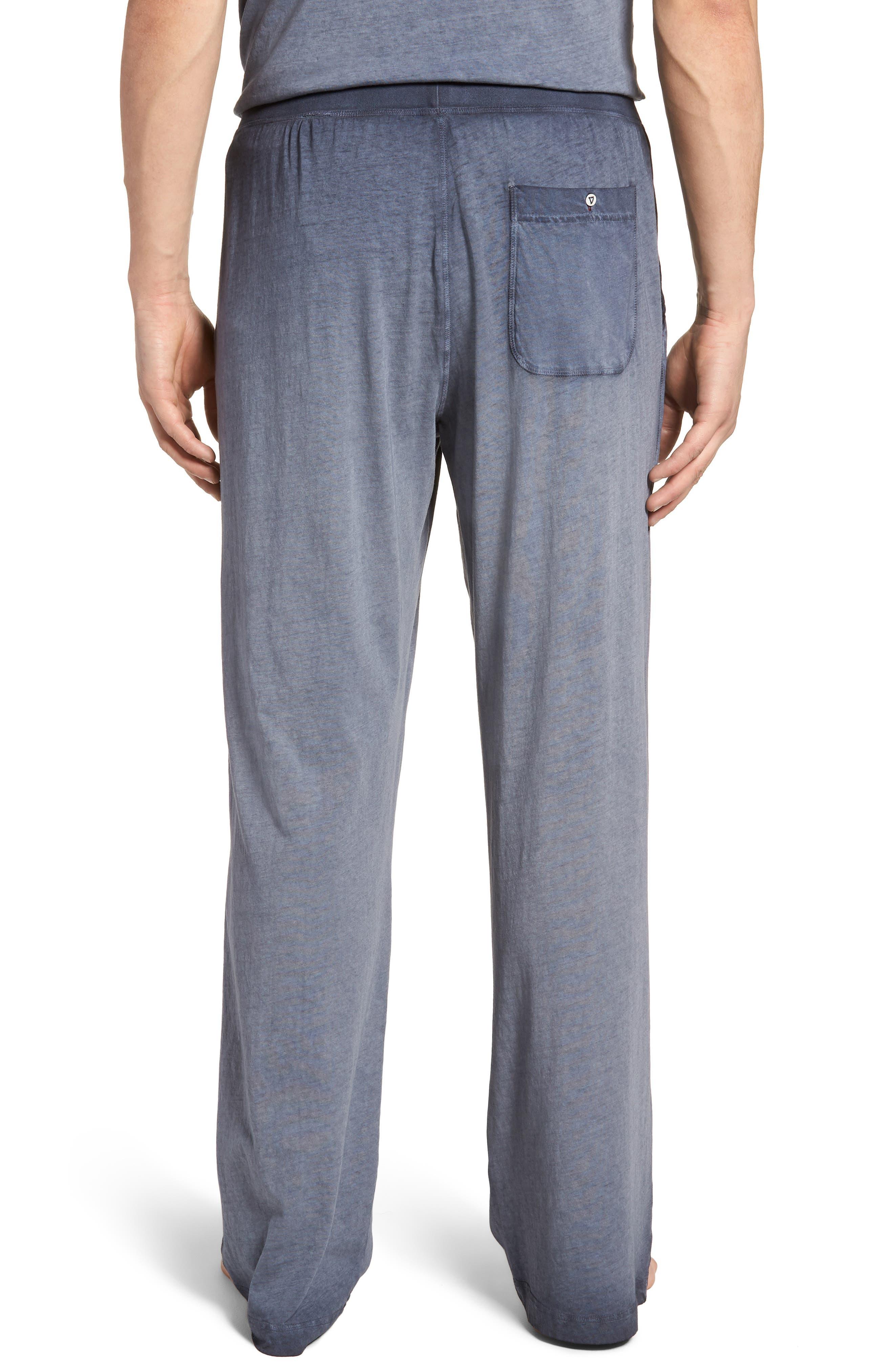 Cotton Lounge Pants,                             Alternate thumbnail 2, color,                             Navy