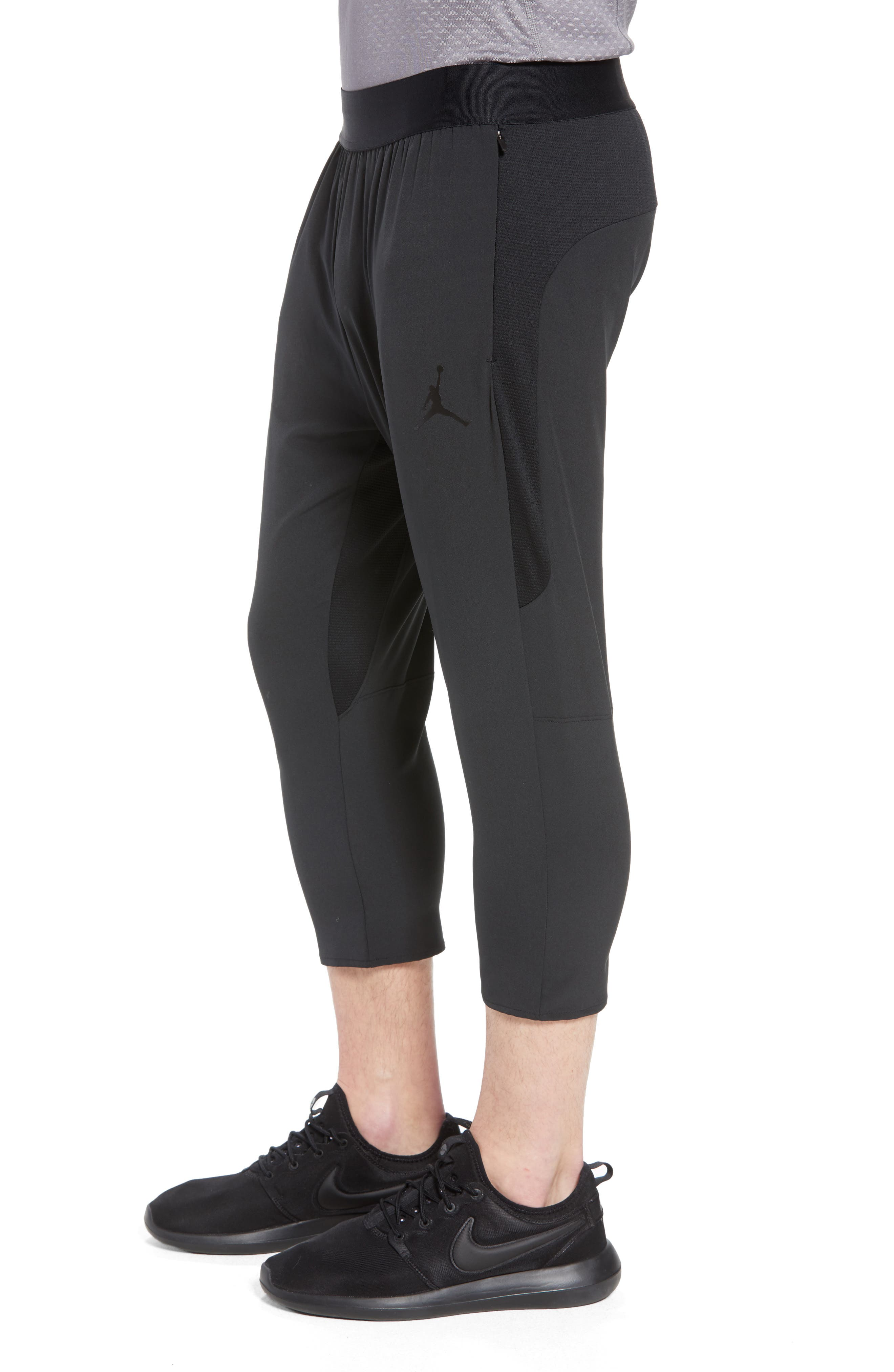 Ult Flight Pants,                             Alternate thumbnail 3, color,                             Black/ Black