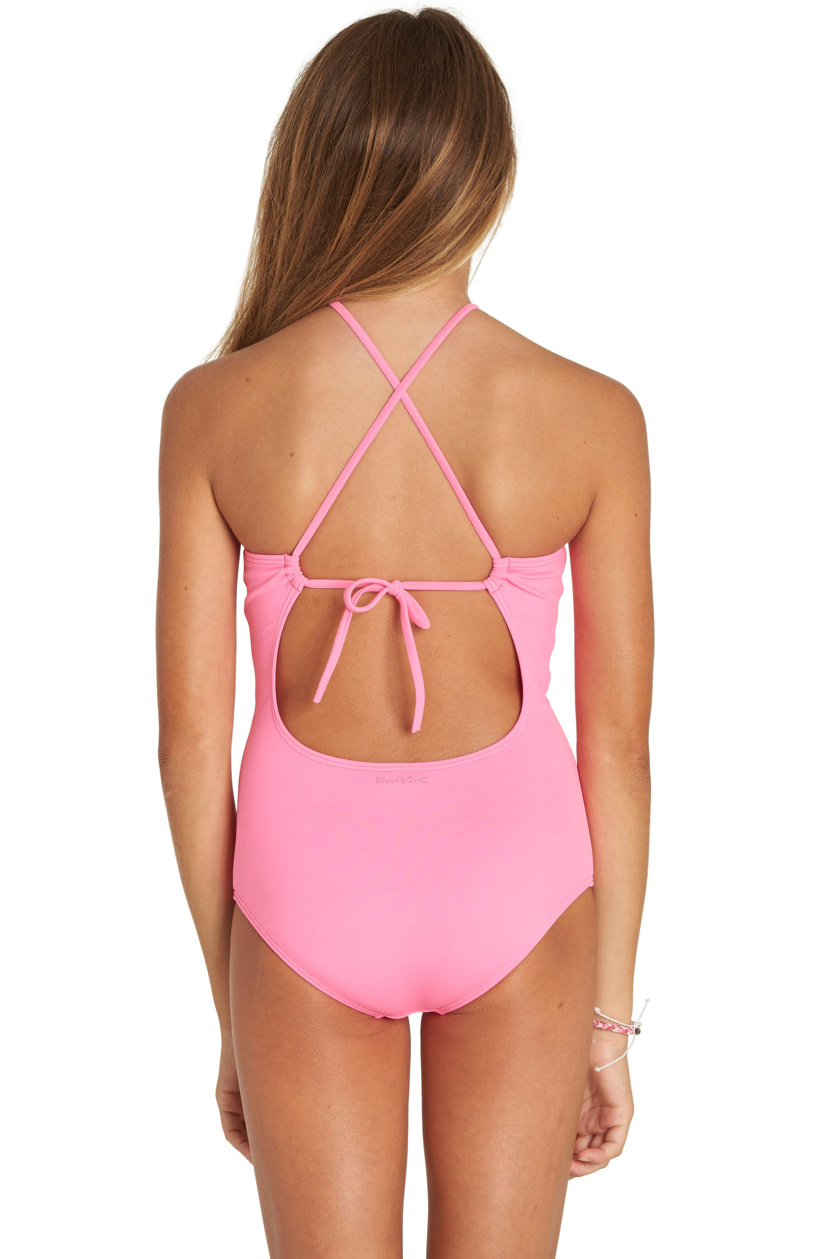 Sol Searcher One-Piece Swimsuit,                             Alternate thumbnail 5, color,                             Tahiti Pink