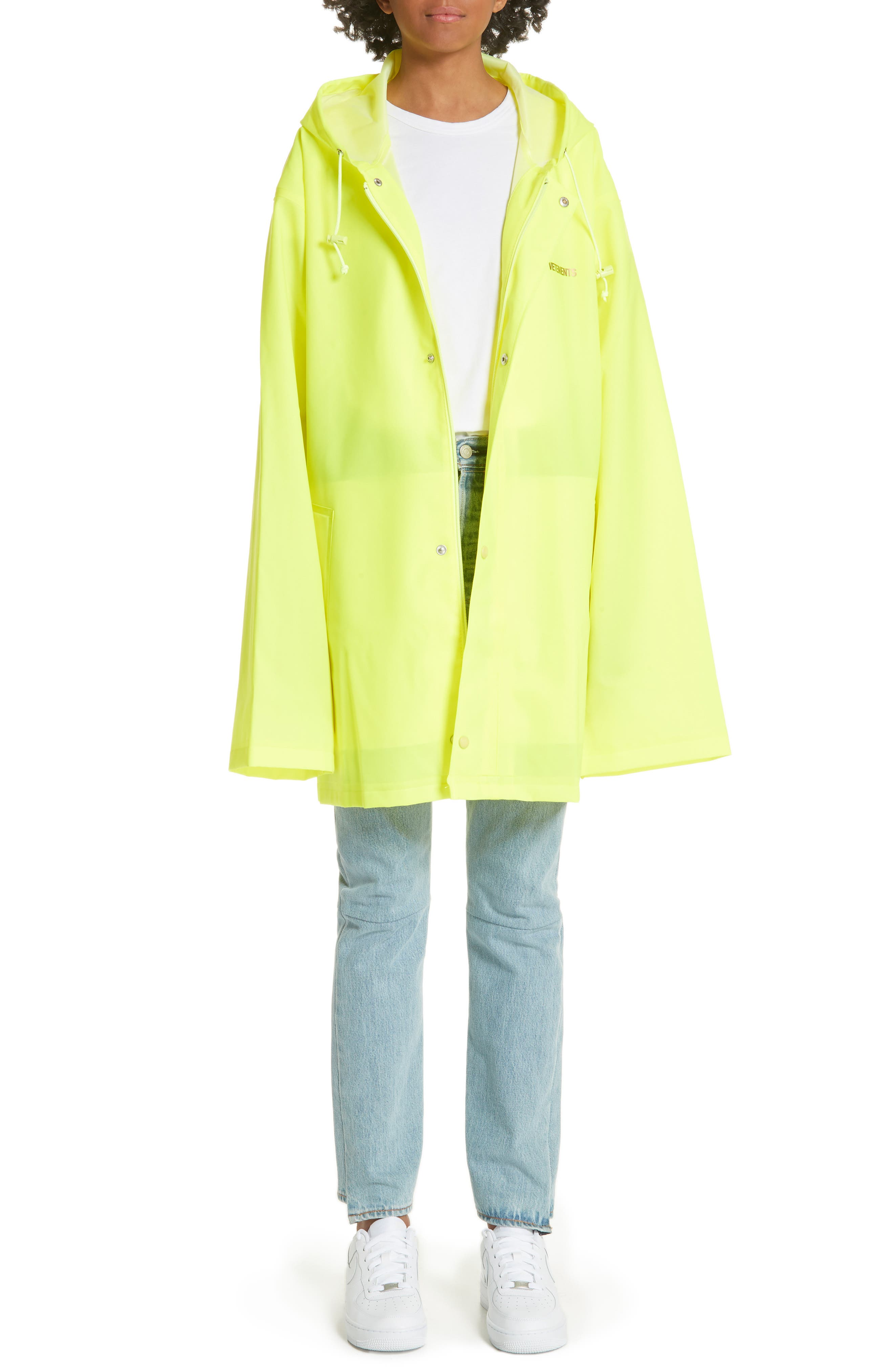 Alternate Image 1 Selected - Vetements Short Logo Raincoat
