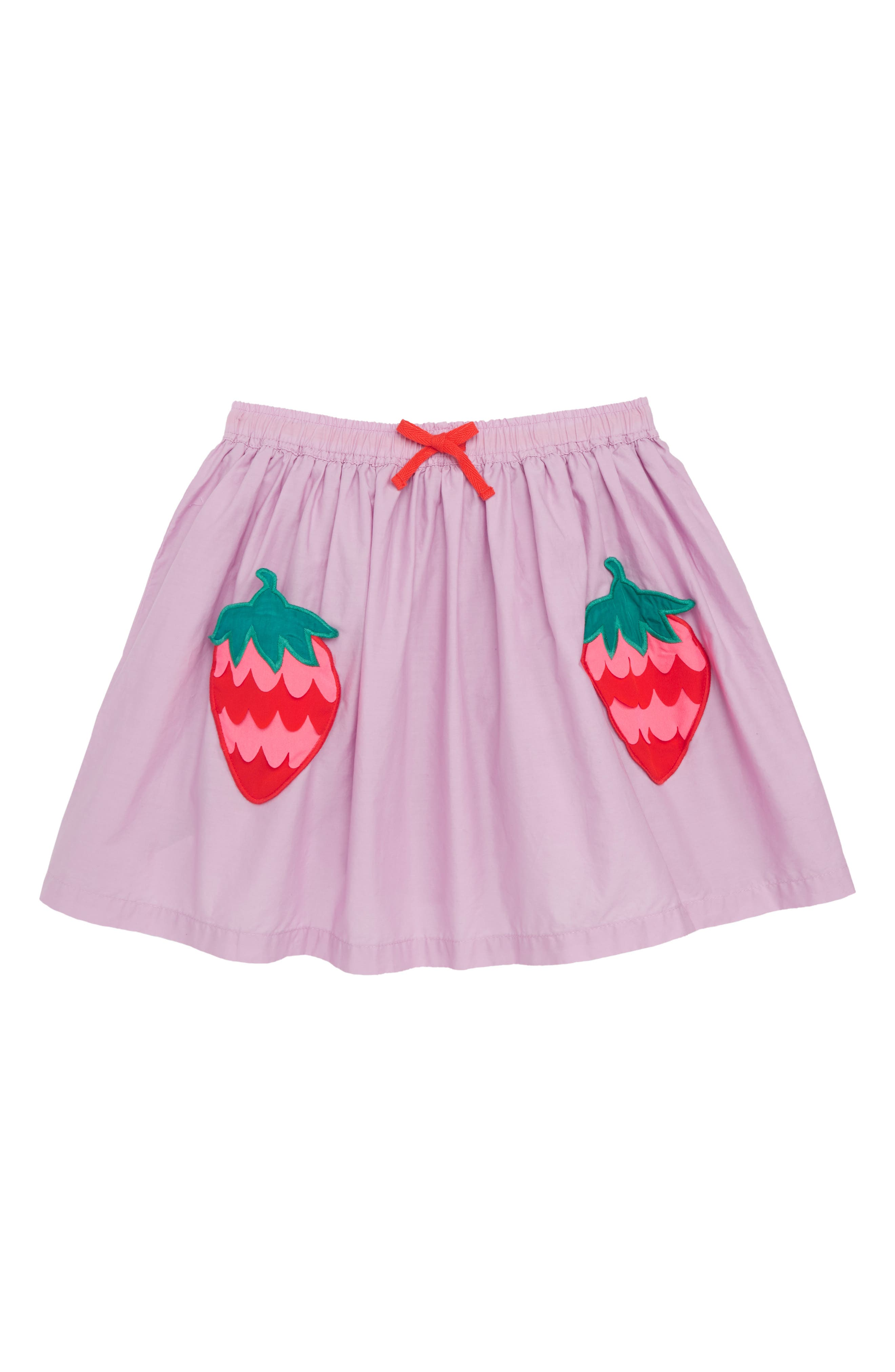 Novelty Pocket Skirt,                         Main,                         color, Cypher Purple Strawberries Prp