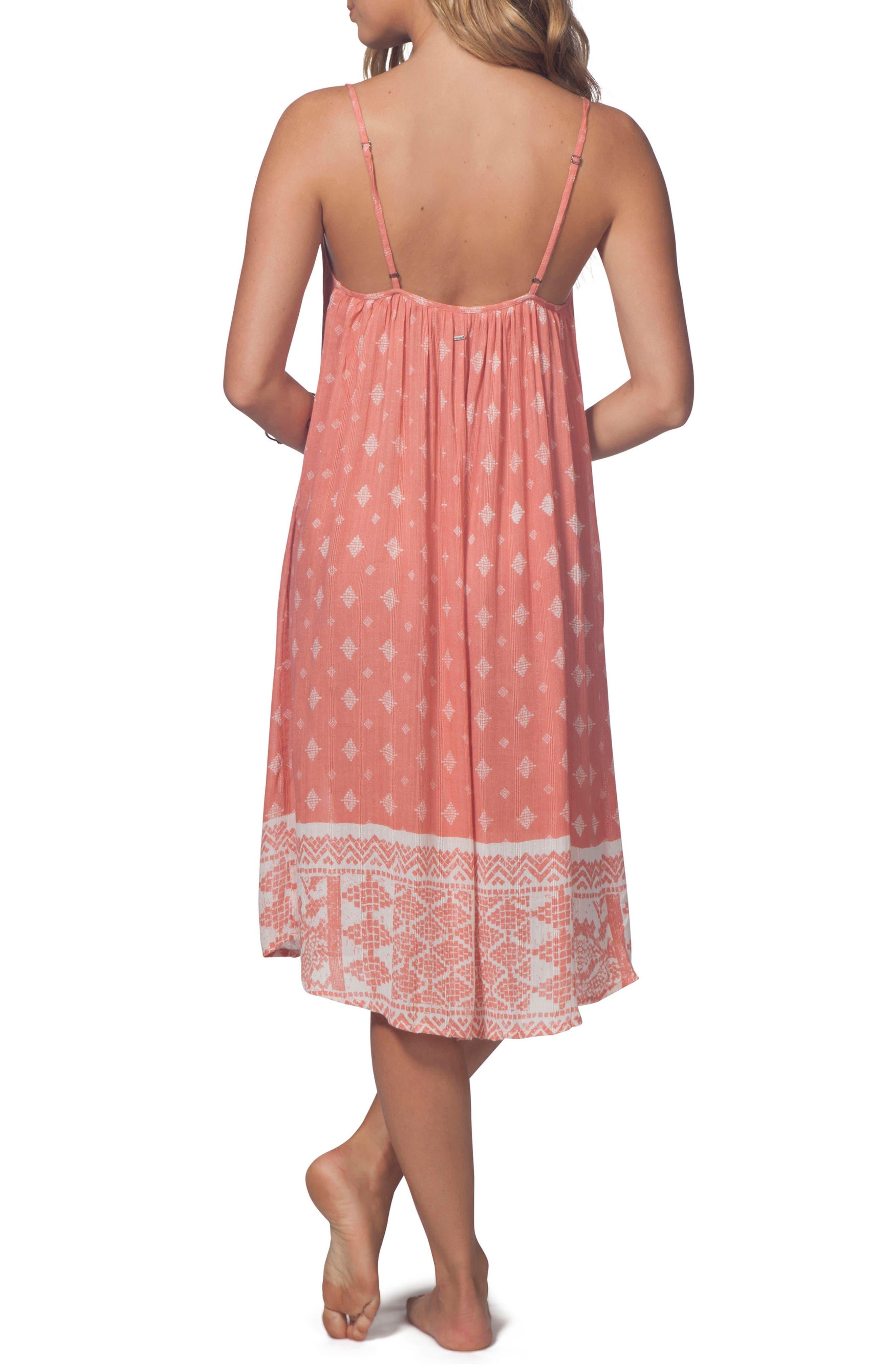 South Wind Border Crochet Neck Midi Dress,                             Alternate thumbnail 2, color,                             Rust
