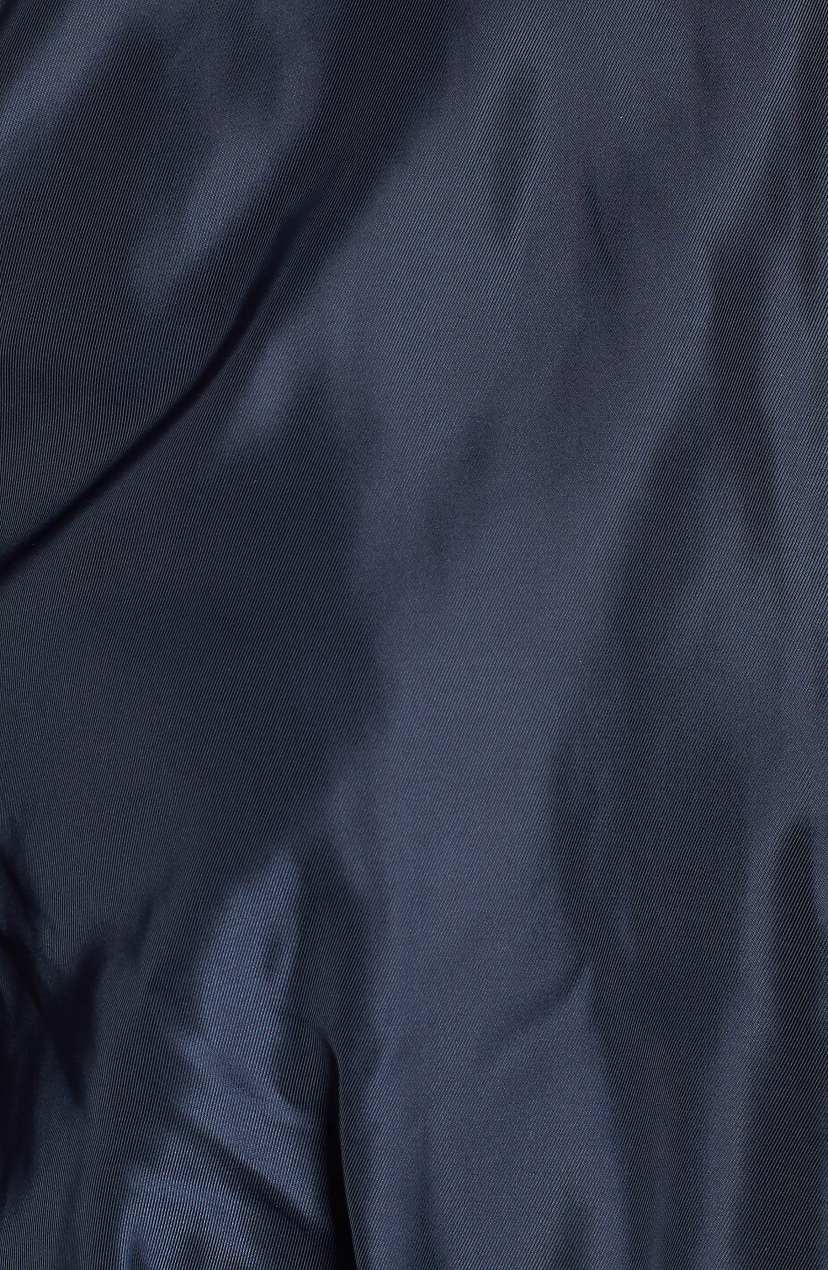 Puff Sleeve Taffeta Crop Jacket,                             Alternate thumbnail 6, color,                             Navy Eclipse