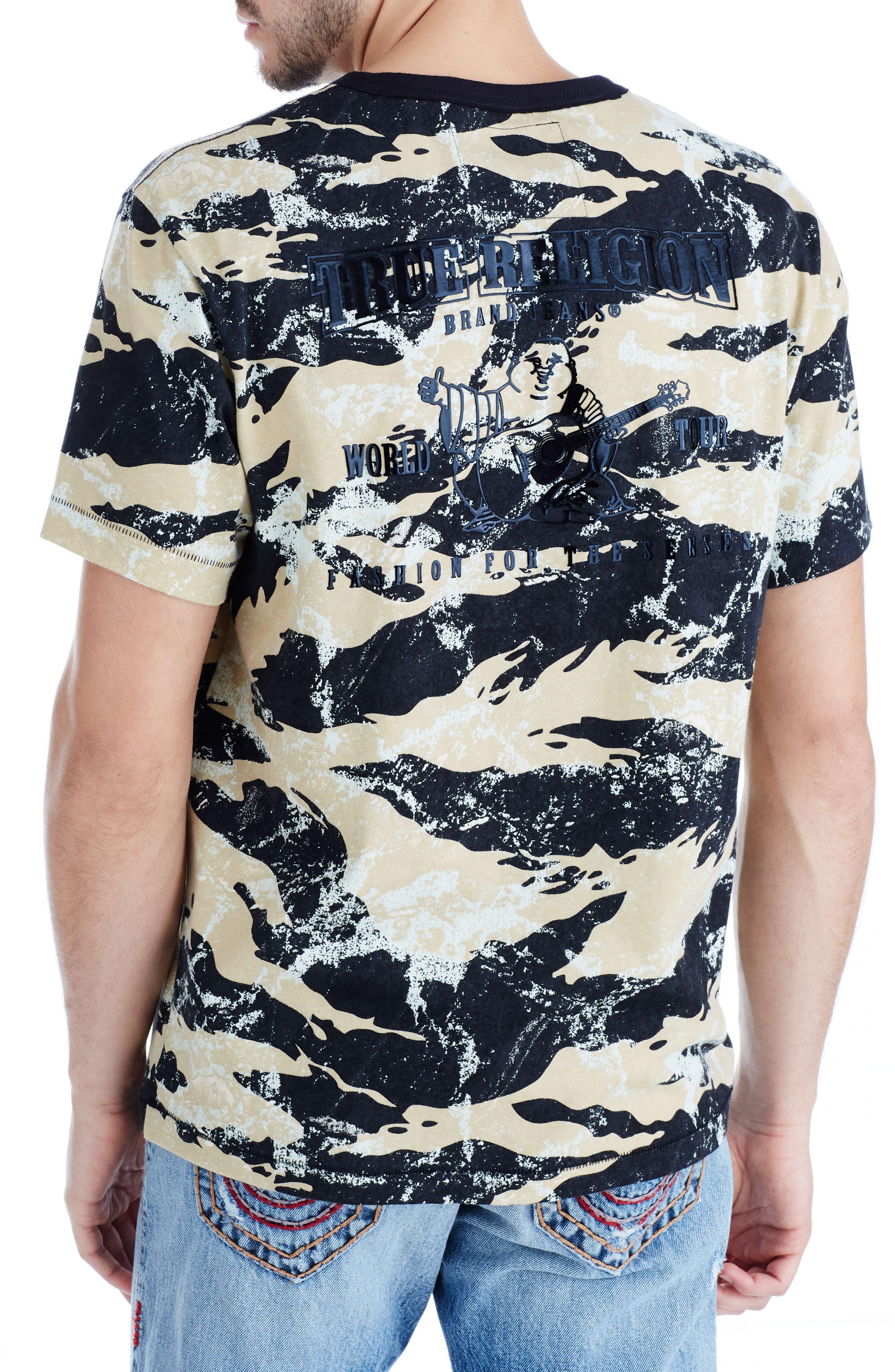 Camo Buddha T-Shirt,                             Alternate thumbnail 2, color,                             Geo Camo