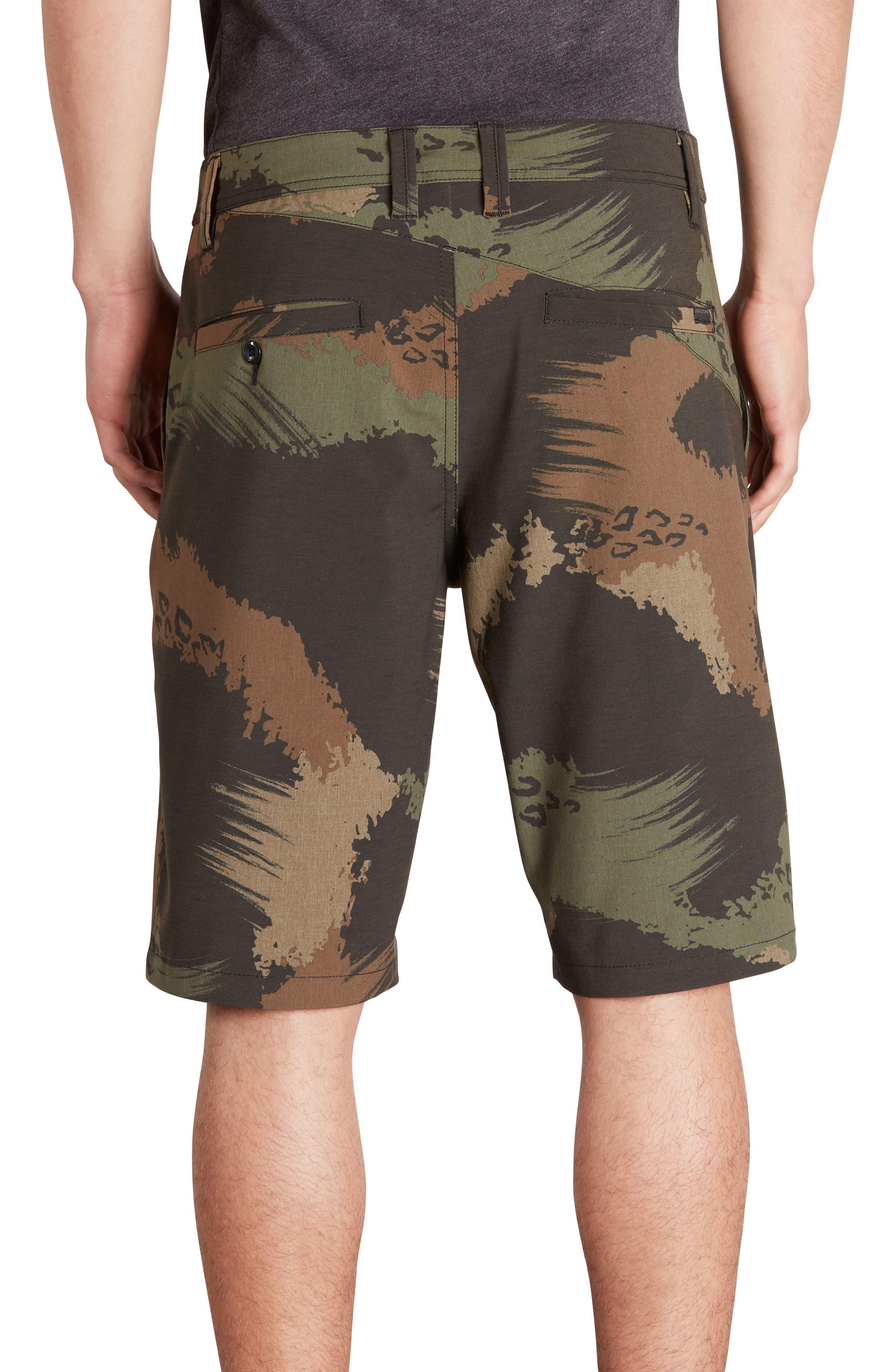 Surf N' Turf Mix Hybrid Shorts,                             Alternate thumbnail 2, color,                             Camouflage