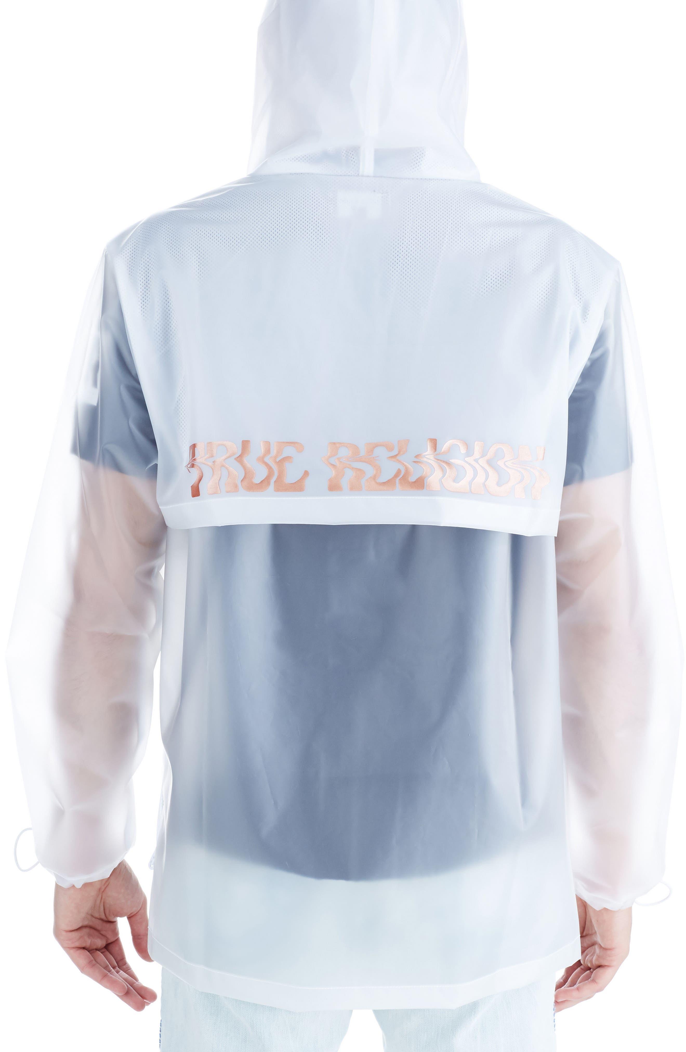 Alternate Image 2  - True Religion Brand Jeans Translucent Rain Jacket