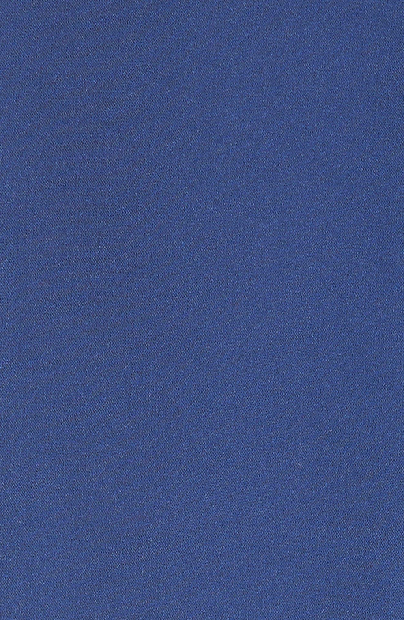 Lennon Zip Front Minidress,                             Alternate thumbnail 5, color,                             Indigo