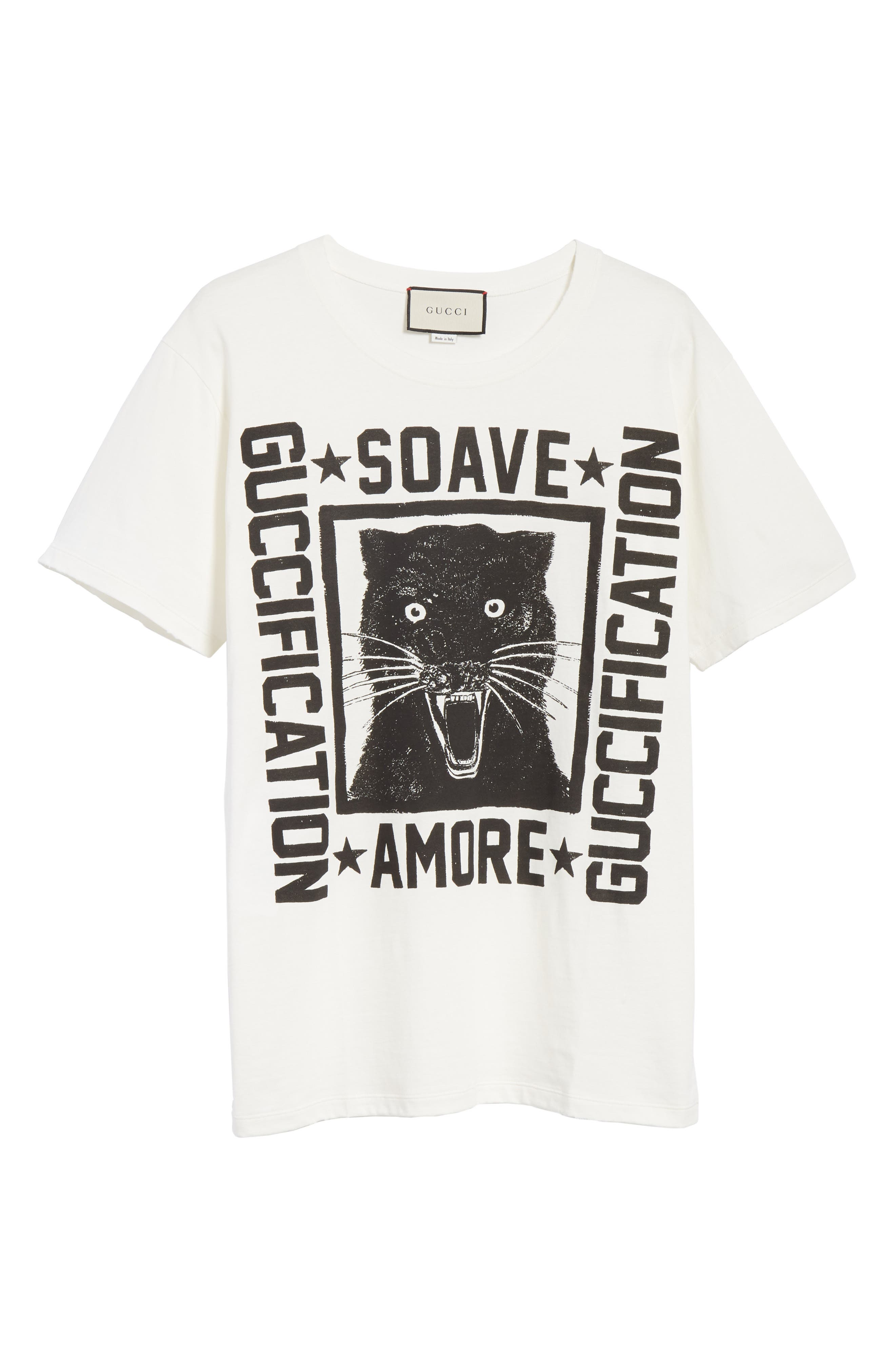 Amore Graphic Tee,                             Alternate thumbnail 6, color,                             Ivory Black