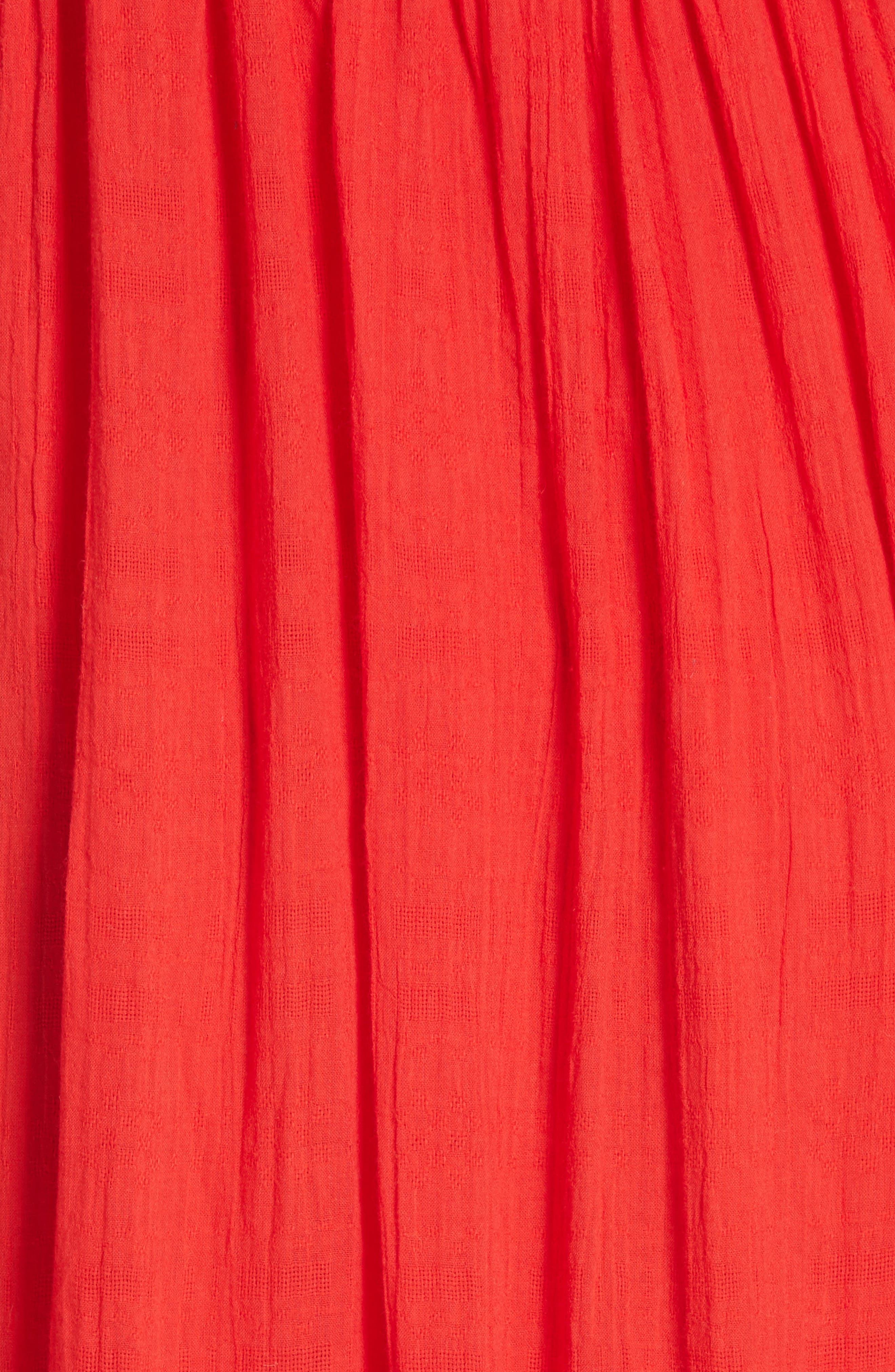 Caught Your Eye Maxi Dress,                             Alternate thumbnail 5, color,                             Red