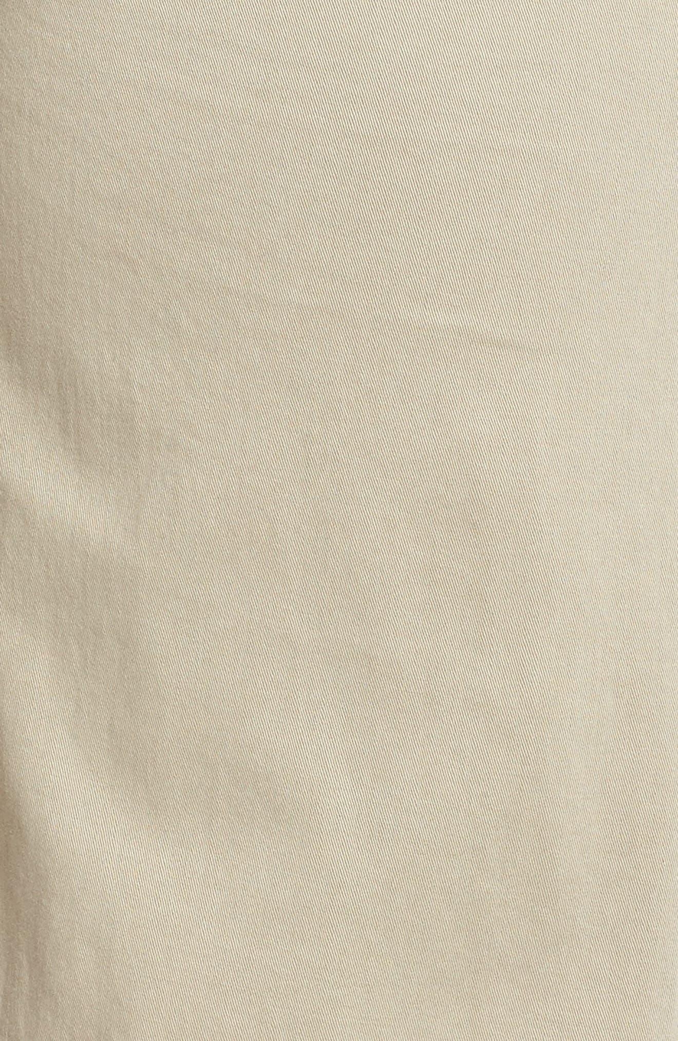 Wide Leg Stretch Cotton Twill Crop Pants,                             Alternate thumbnail 6, color,                             Tan Cobblestone
