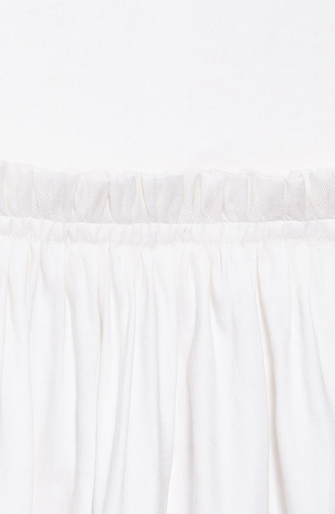 Jenny Linen Blend Dress,                             Alternate thumbnail 3, color,                             White
