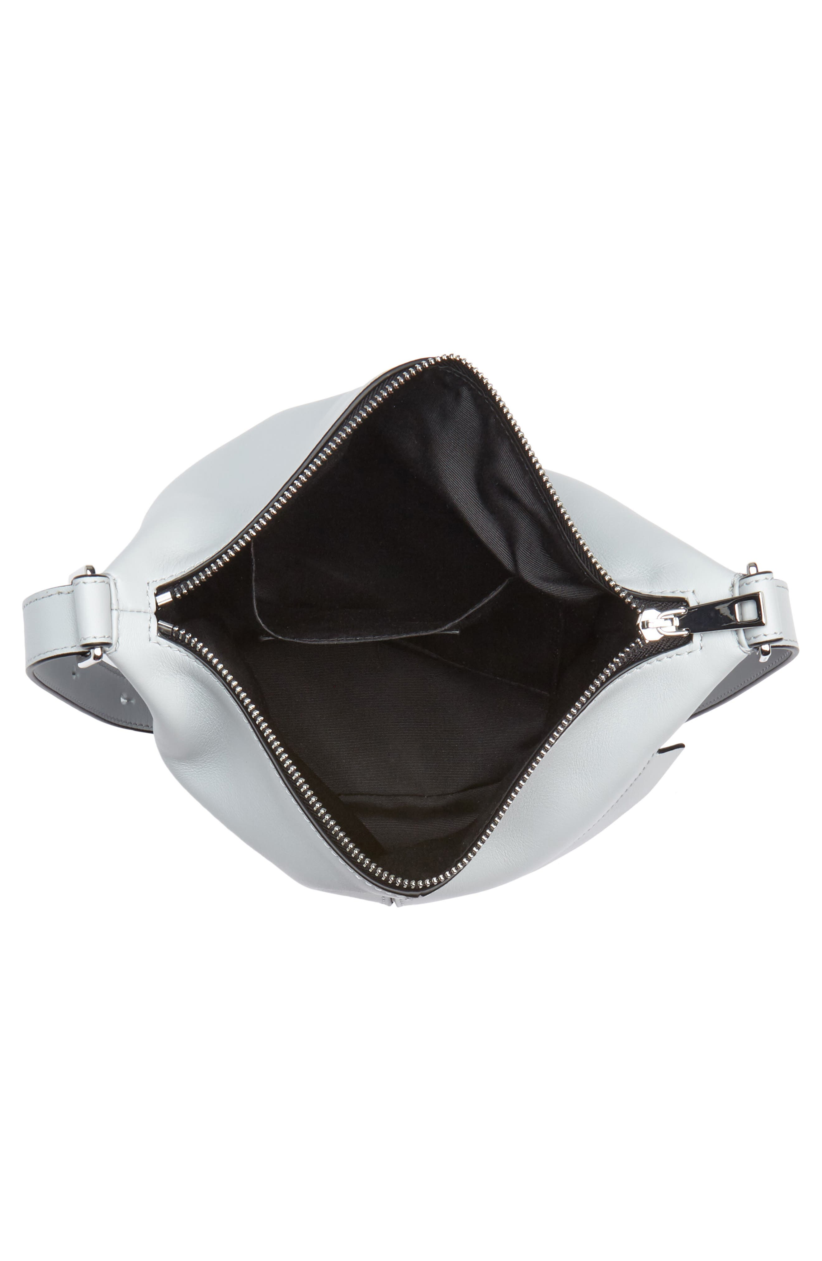 The Mini Sling Convertible Leather Hobo,                             Alternate thumbnail 4, color,                             Light Grey