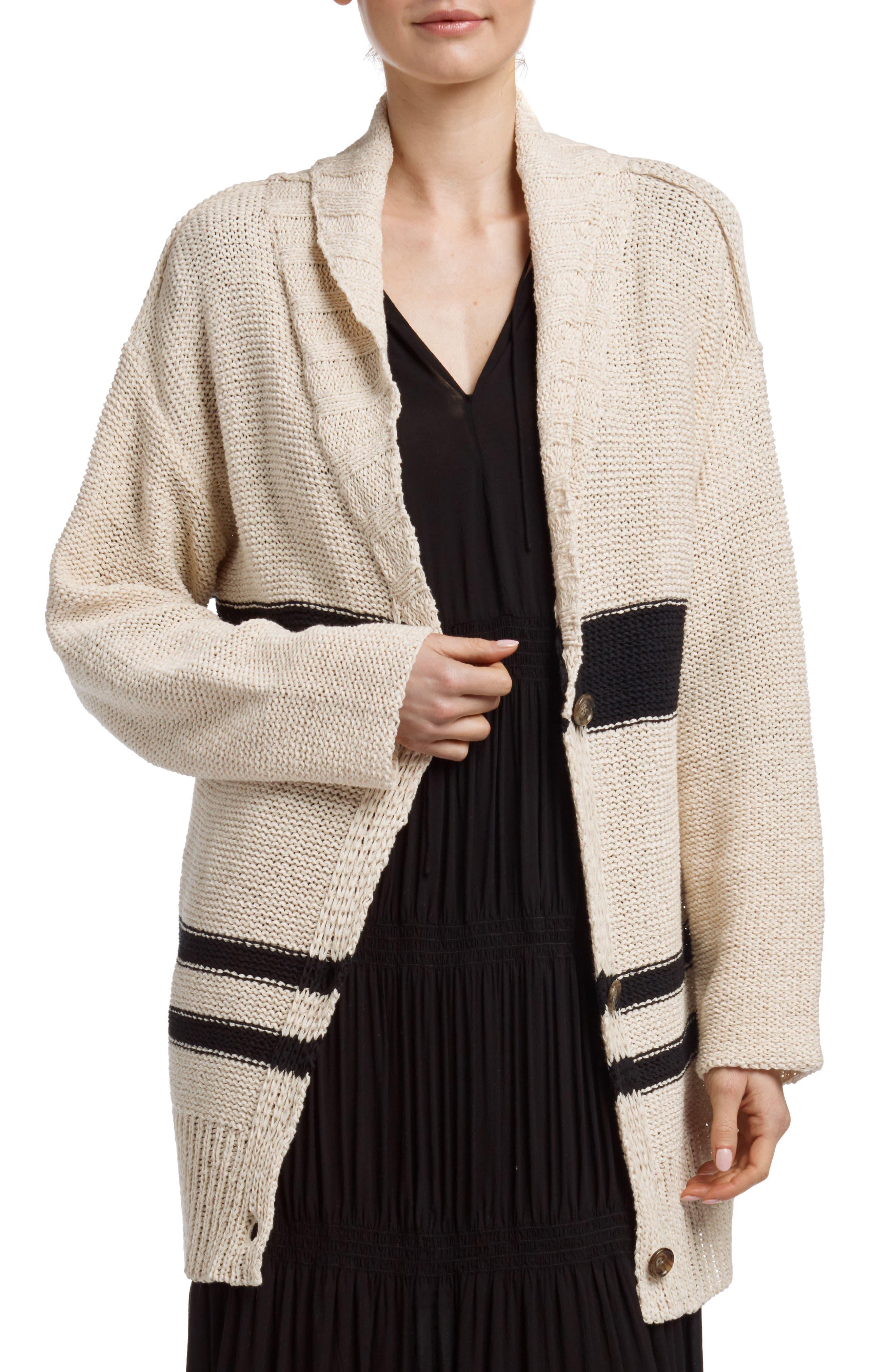 Alternate Image 1 Selected - James Perse Cotton & Linen Blend Beach Sweater