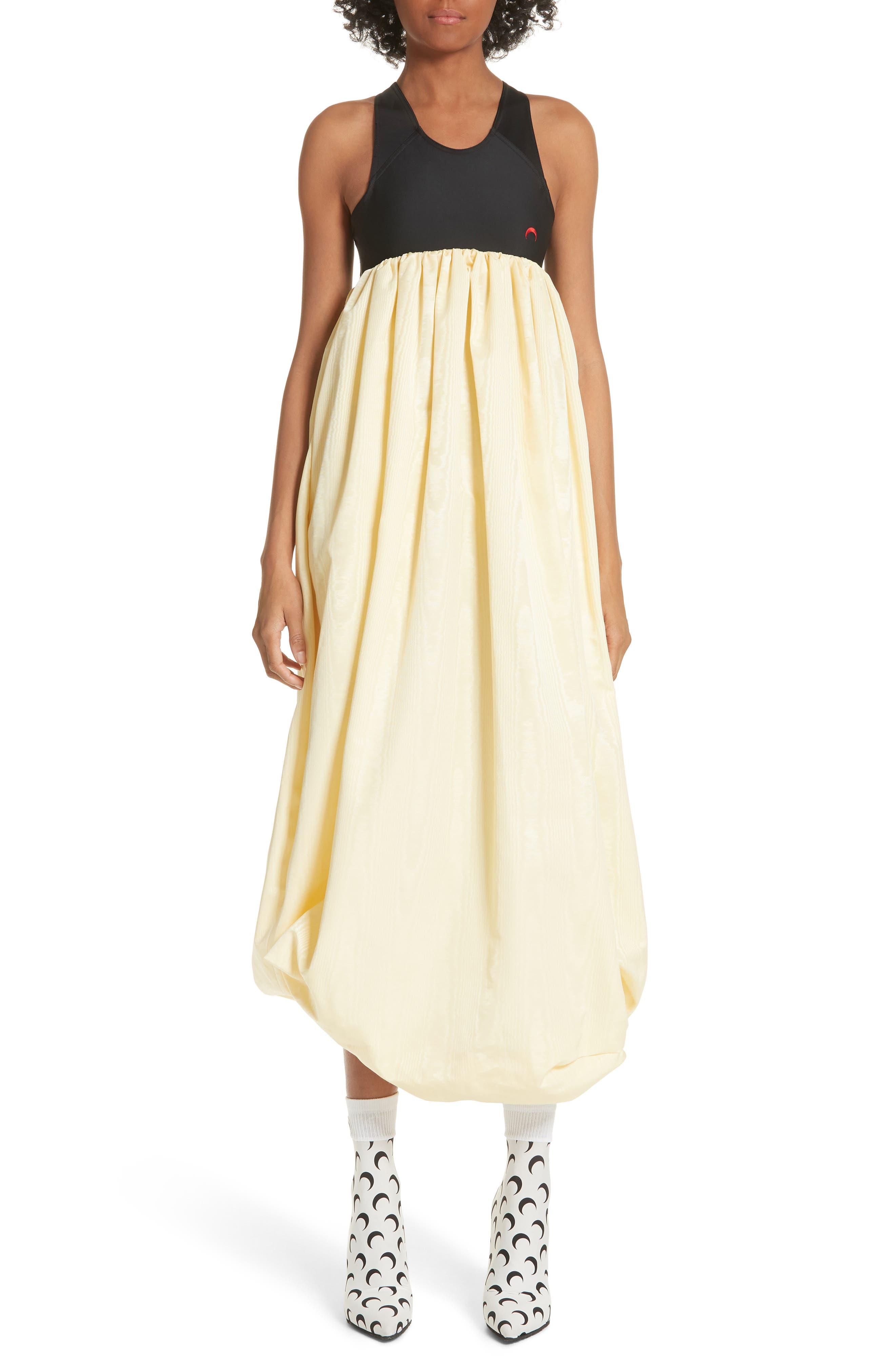 Hybrid Ball Dress,                         Main,                         color, Black/ Yellow