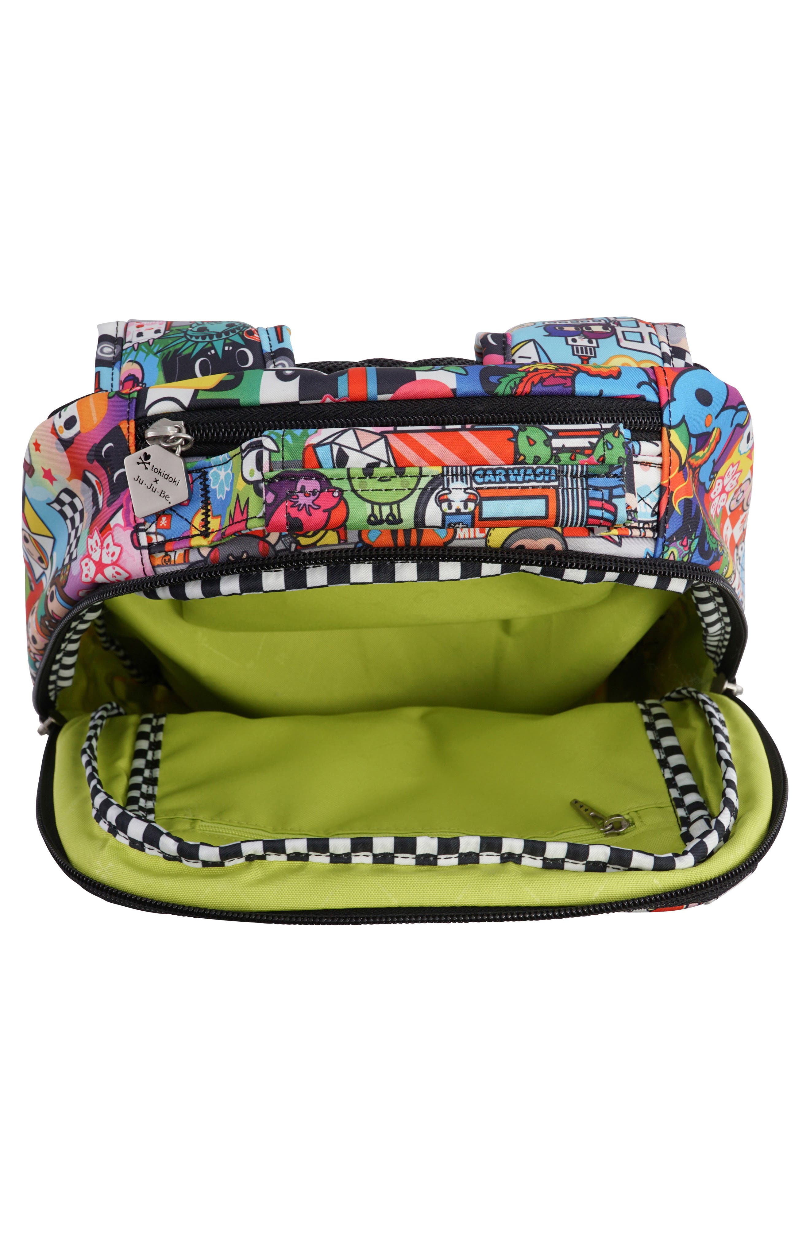 x tokidoki Be Sassy Diaper Tote Bag,                             Alternate thumbnail 4, color,                             Sushi Cars