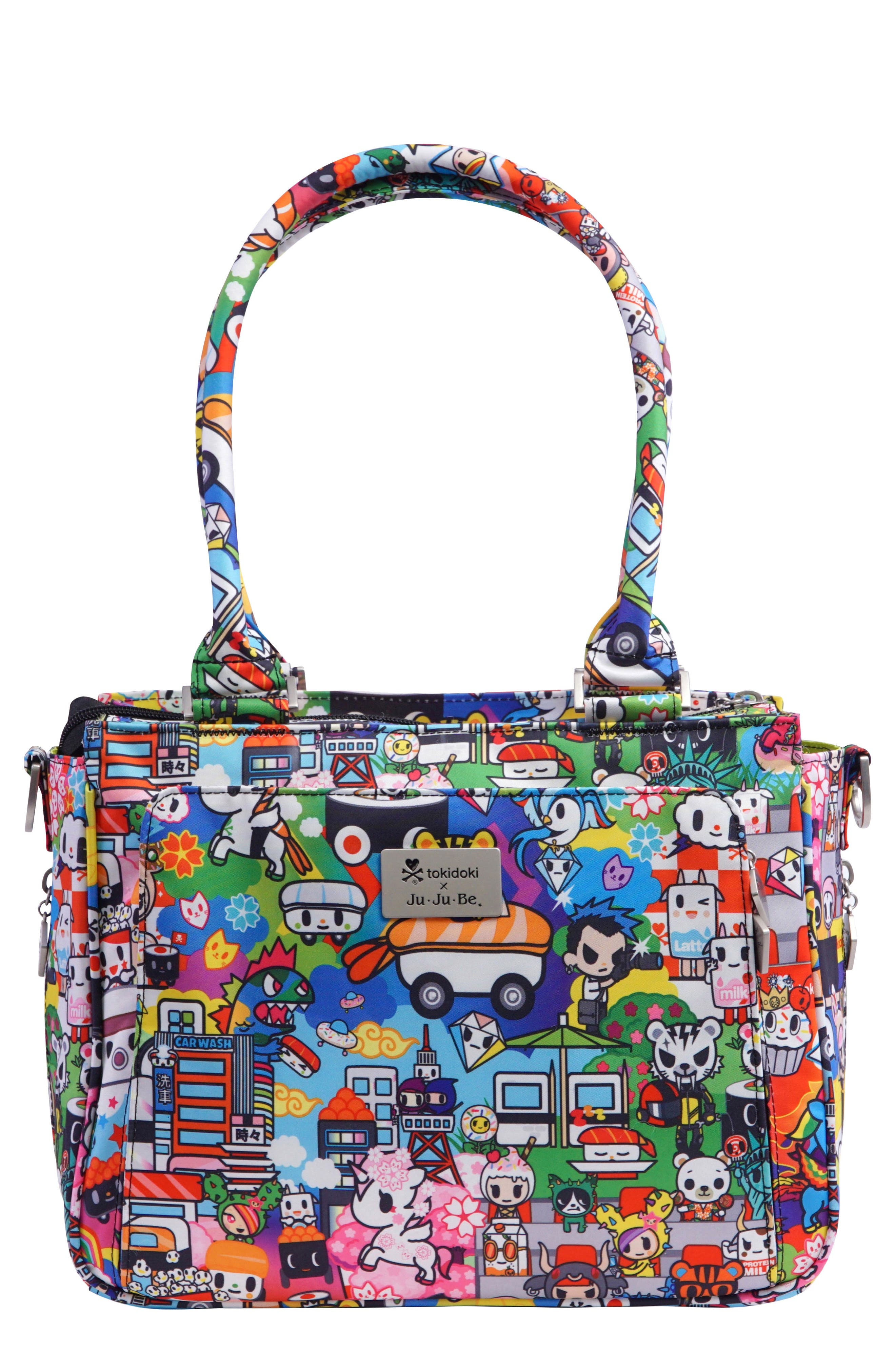 x tokidoki Be Sassy Diaper Tote Bag,                         Main,                         color, Sushi Cars
