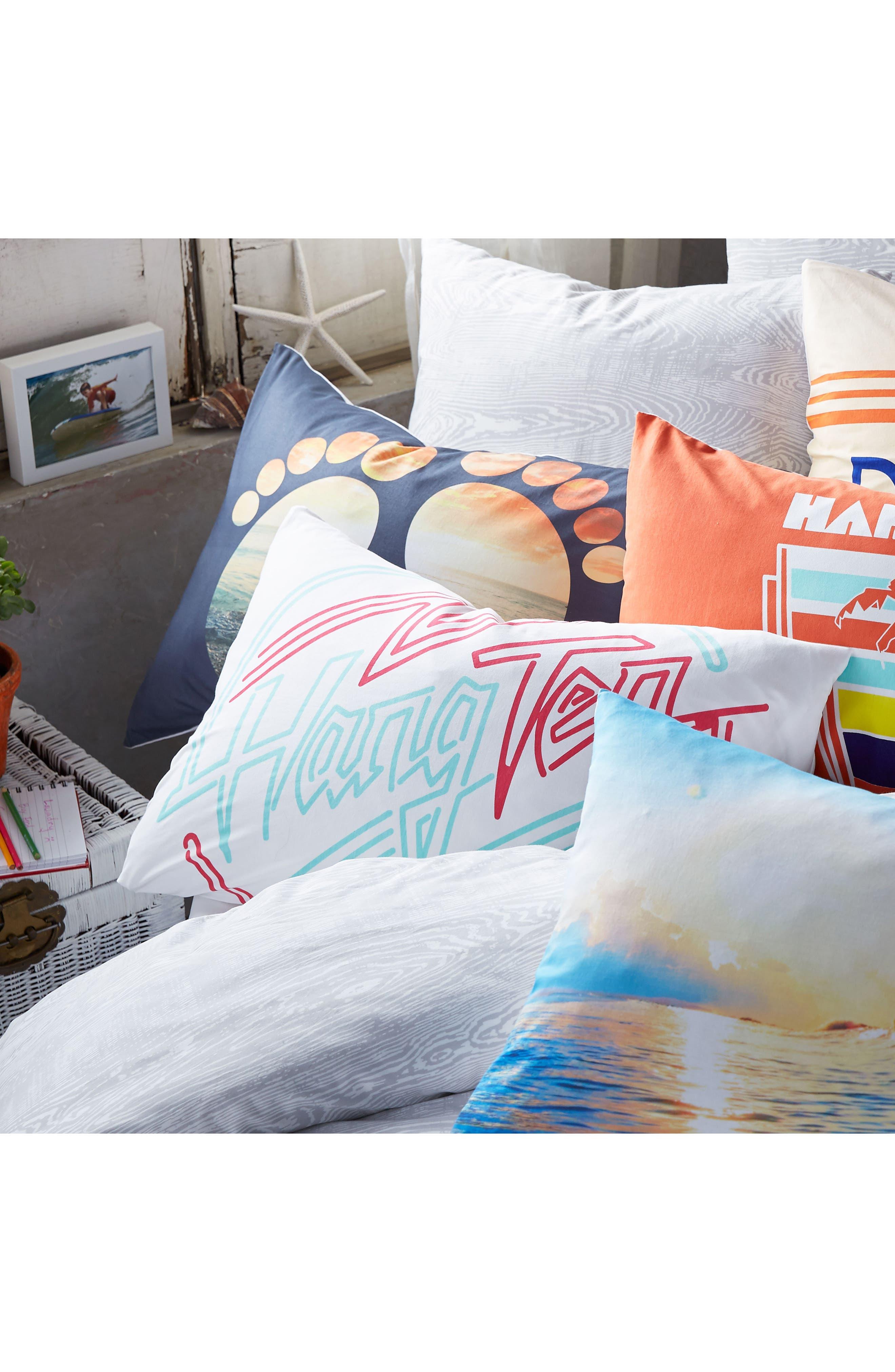 Palm Tree Pillowcase,                             Alternate thumbnail 4, color,                             Coral
