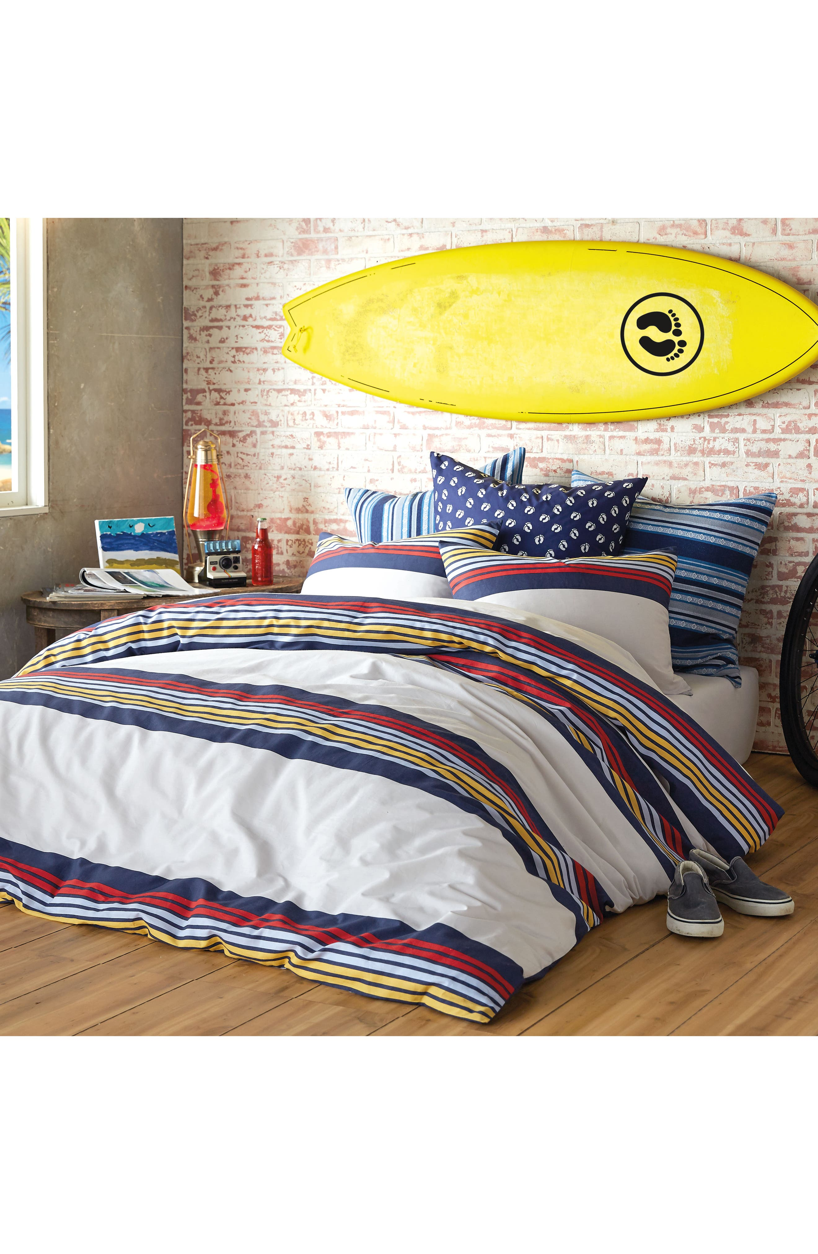 Ocean Beach Duvet Cover & Sham Set,                             Alternate thumbnail 4, color,