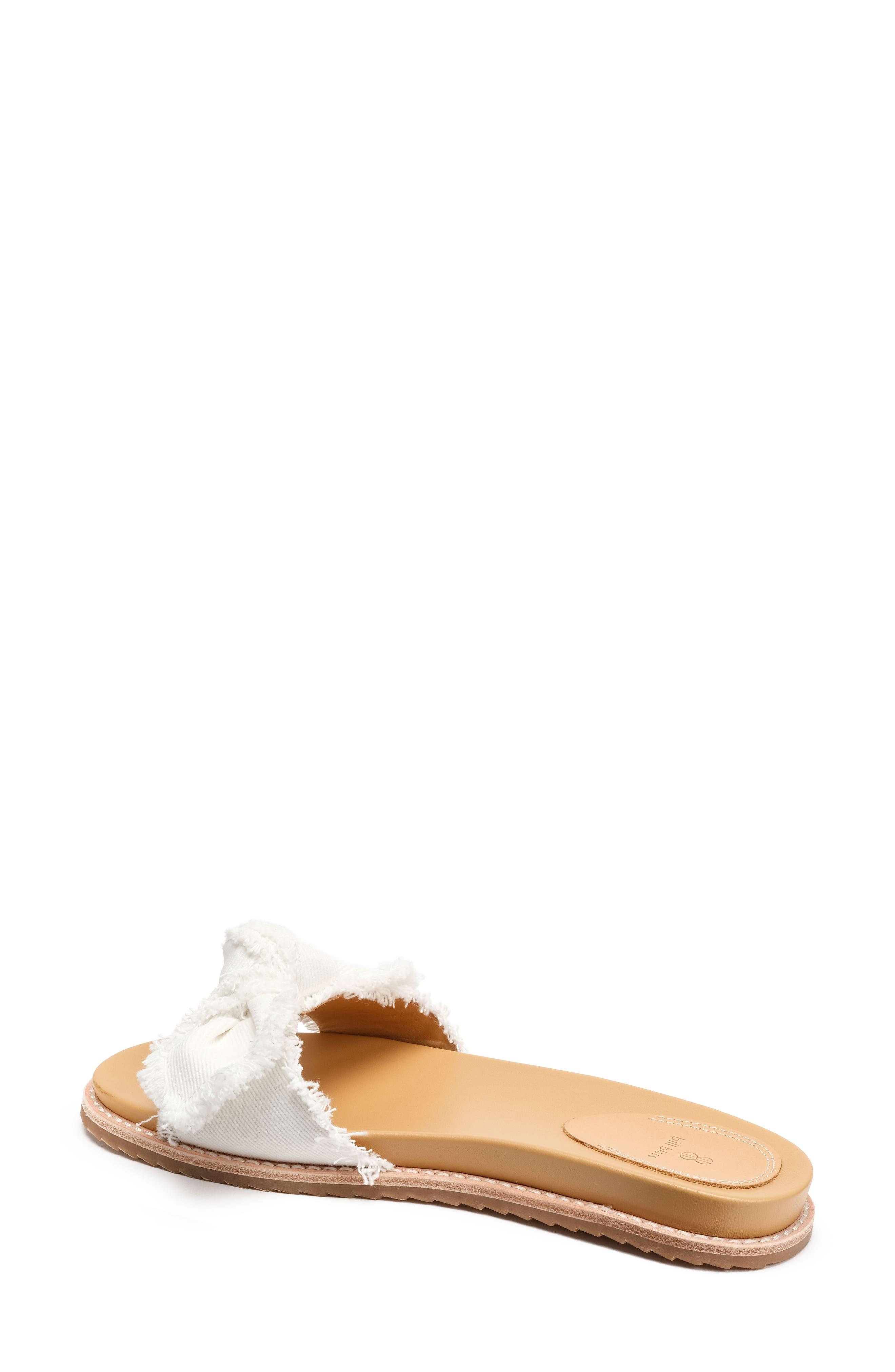 Carmela Slide Sandal,                             Alternate thumbnail 2, color,                             White Fabric