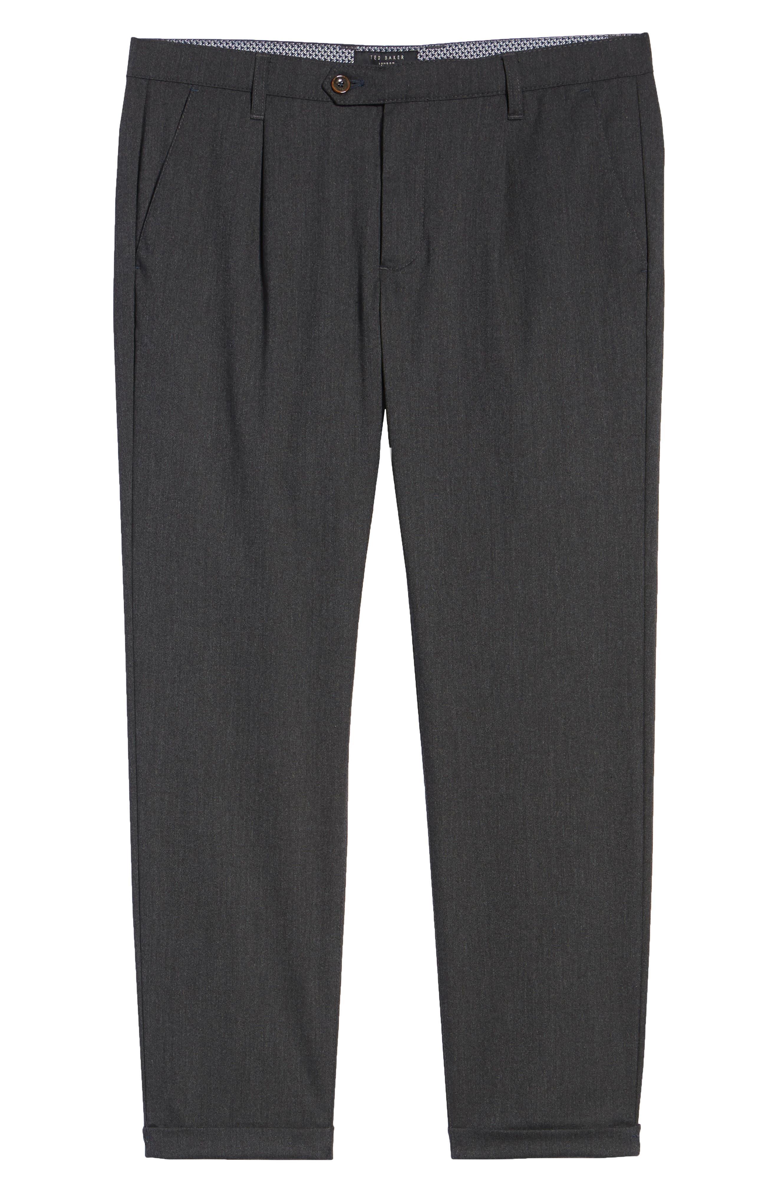 Champi Pleated Cropped Pants,                             Alternate thumbnail 6, color,                             Black