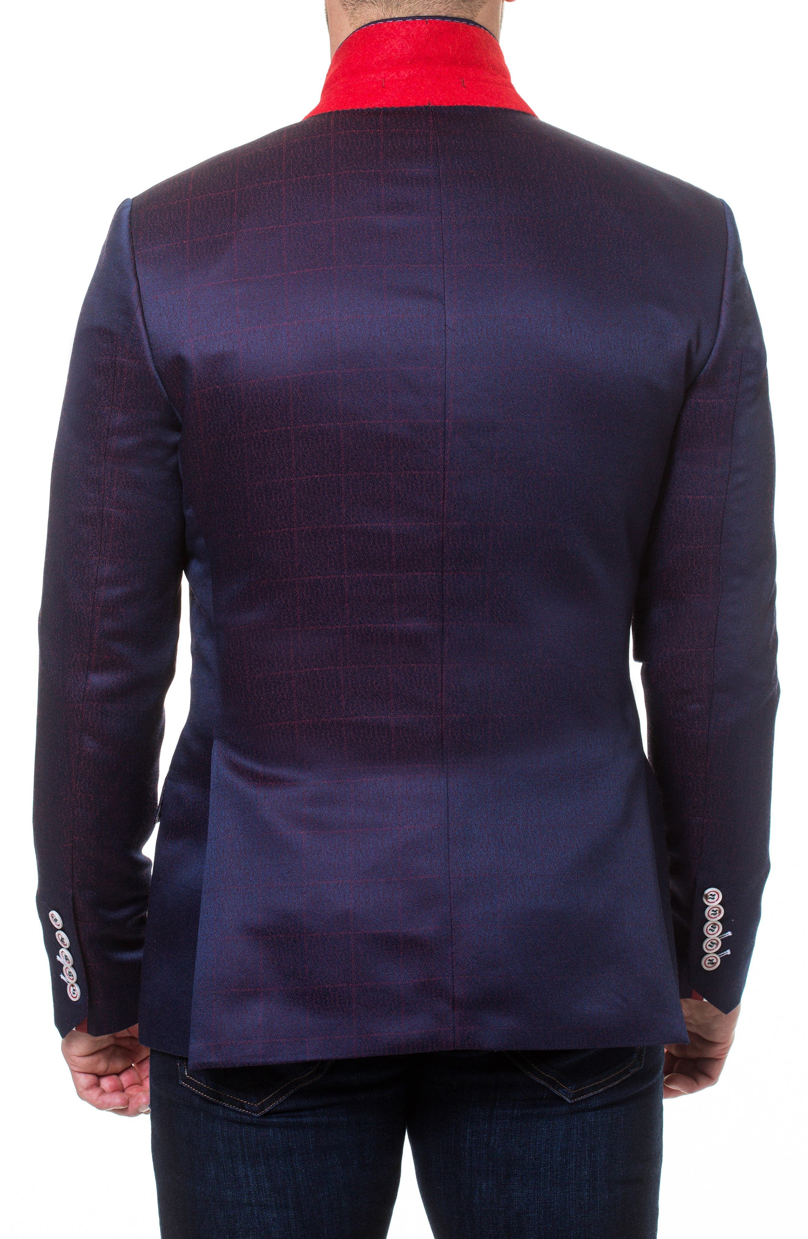 Socrate Fade Sport Coat,                             Alternate thumbnail 3, color,                             Purple