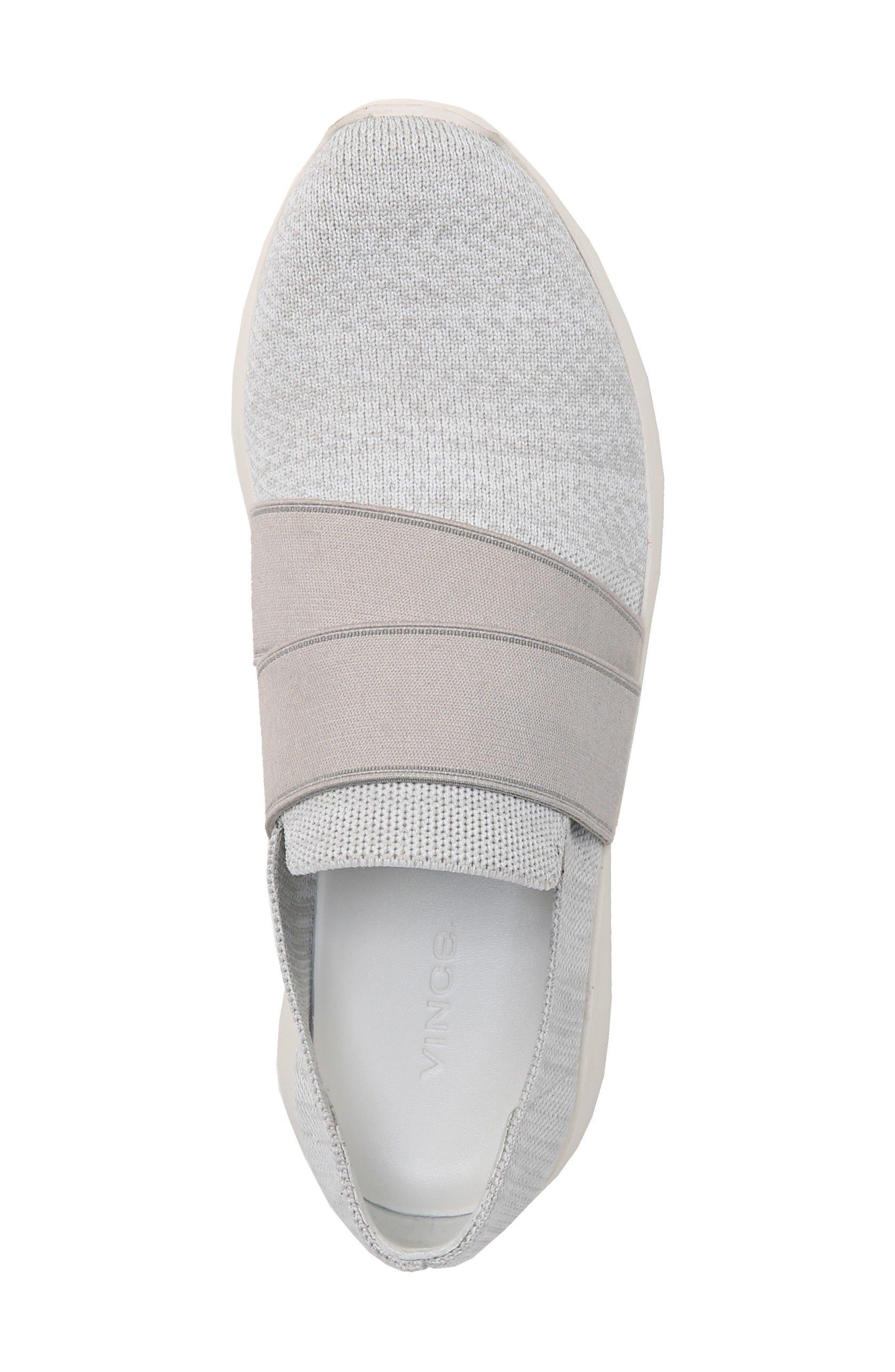Aston Slip-On Sneaker,                             Alternate thumbnail 4, color,                             White/ Grey Marled Knit