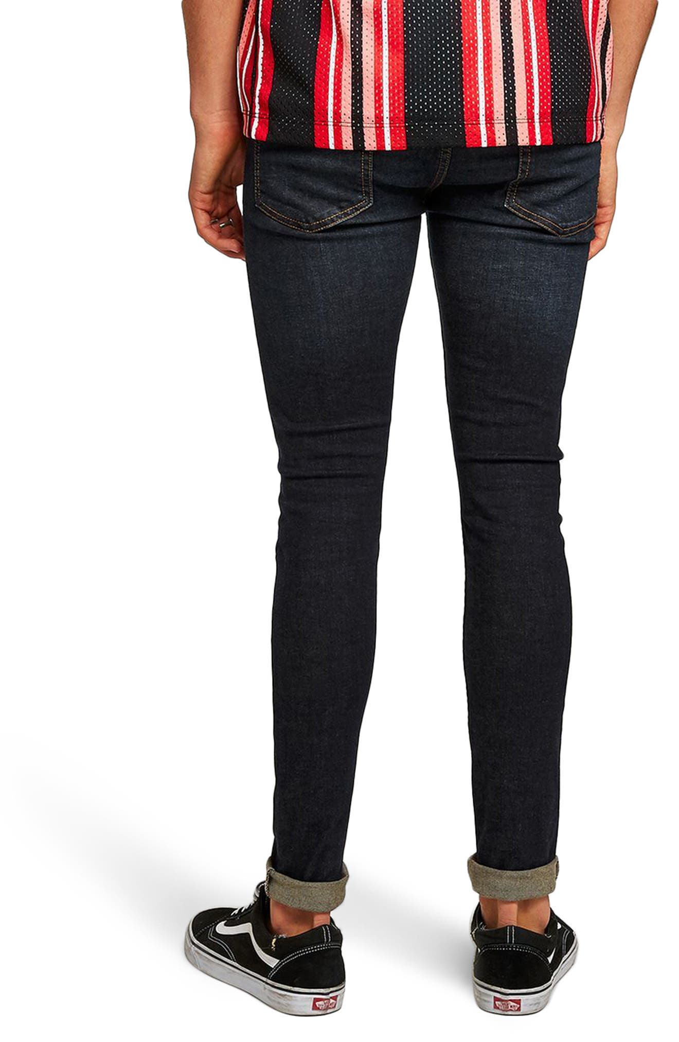 Spray On Skinny Fit Jeans,                             Alternate thumbnail 2, color,                             Blue