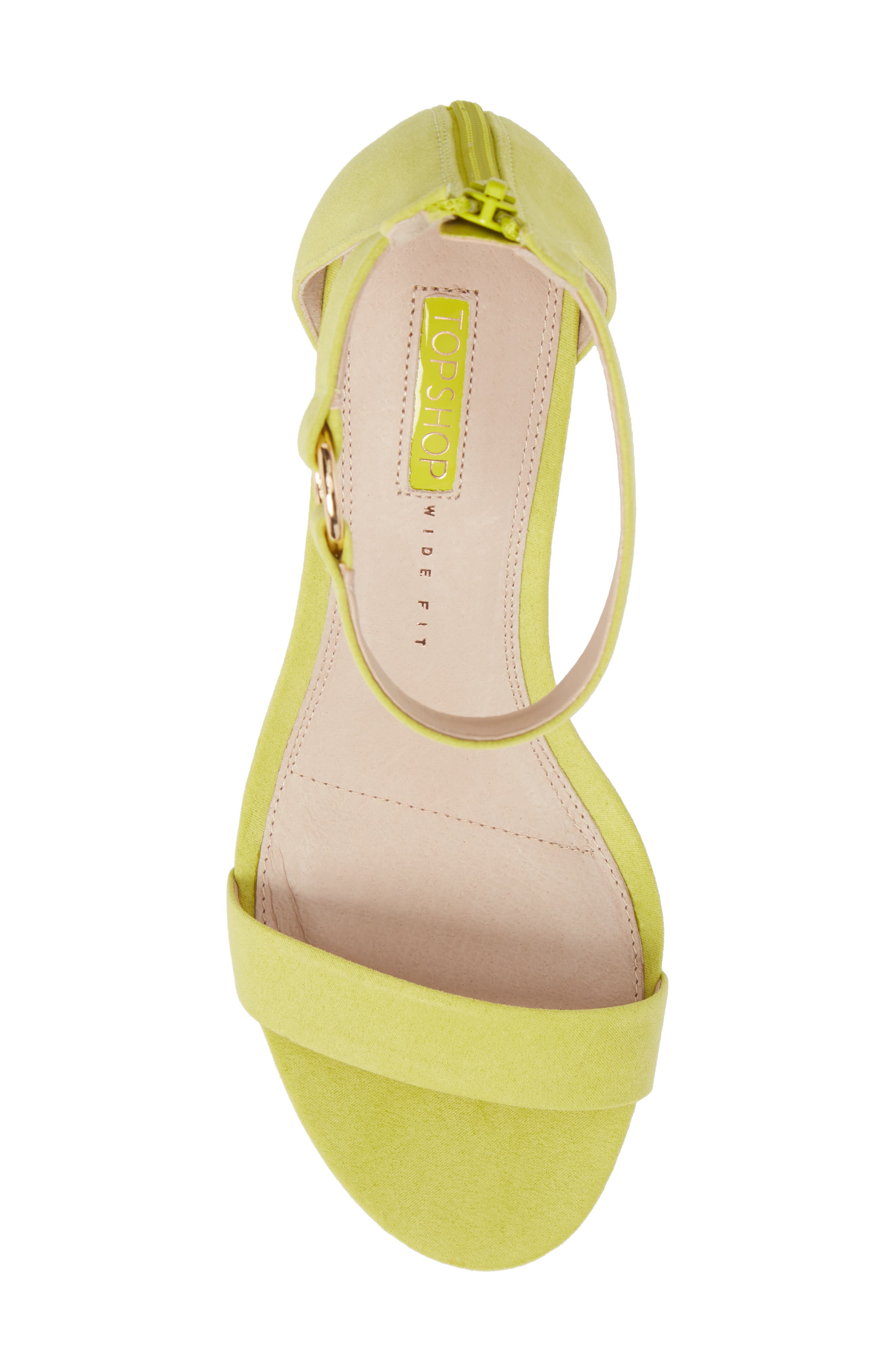 Ringed Sandal,                             Alternate thumbnail 5, color,                             Chartreuse