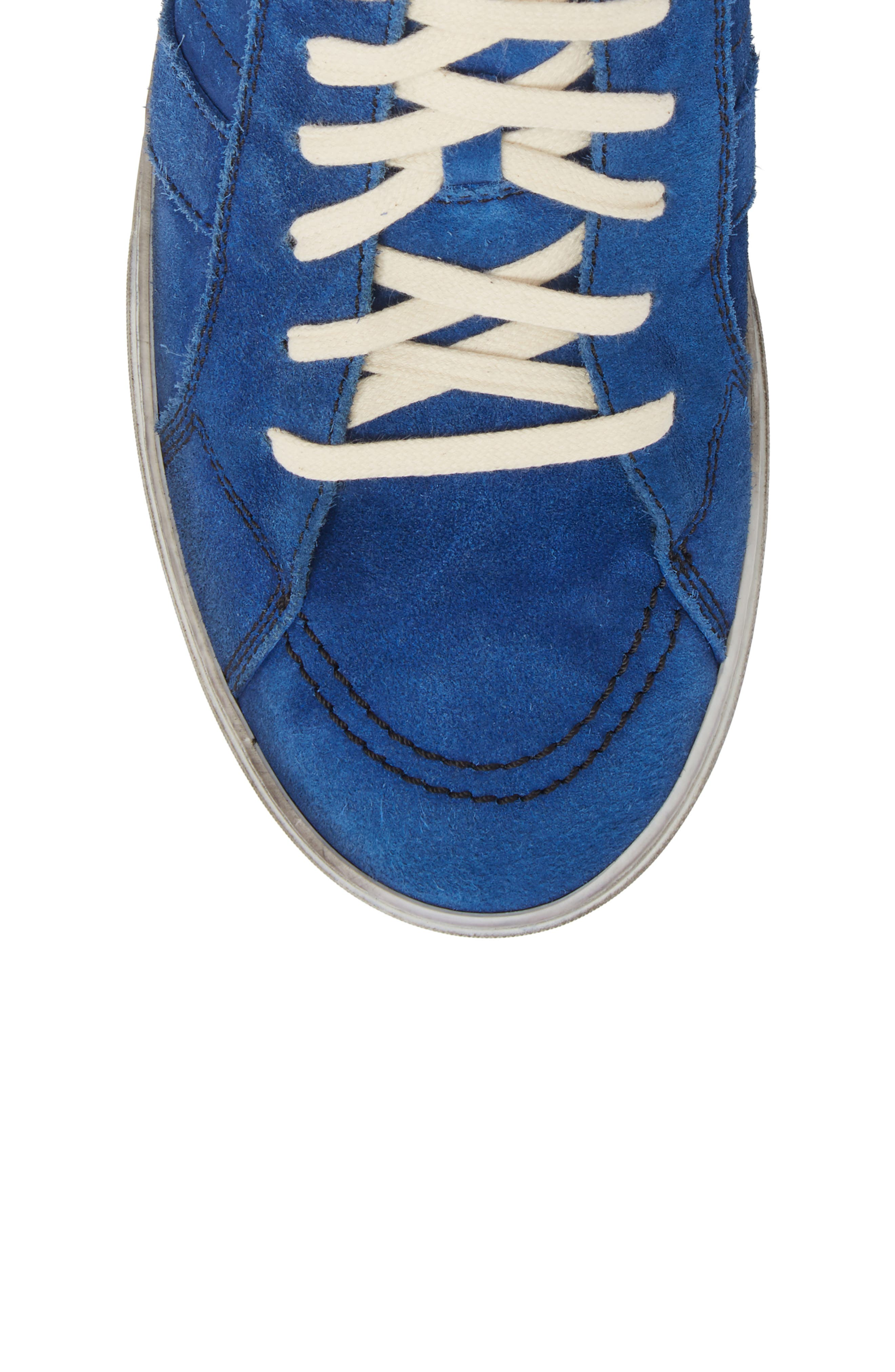 High Top Sneaker,                             Alternate thumbnail 5, color,                             Blue Suede