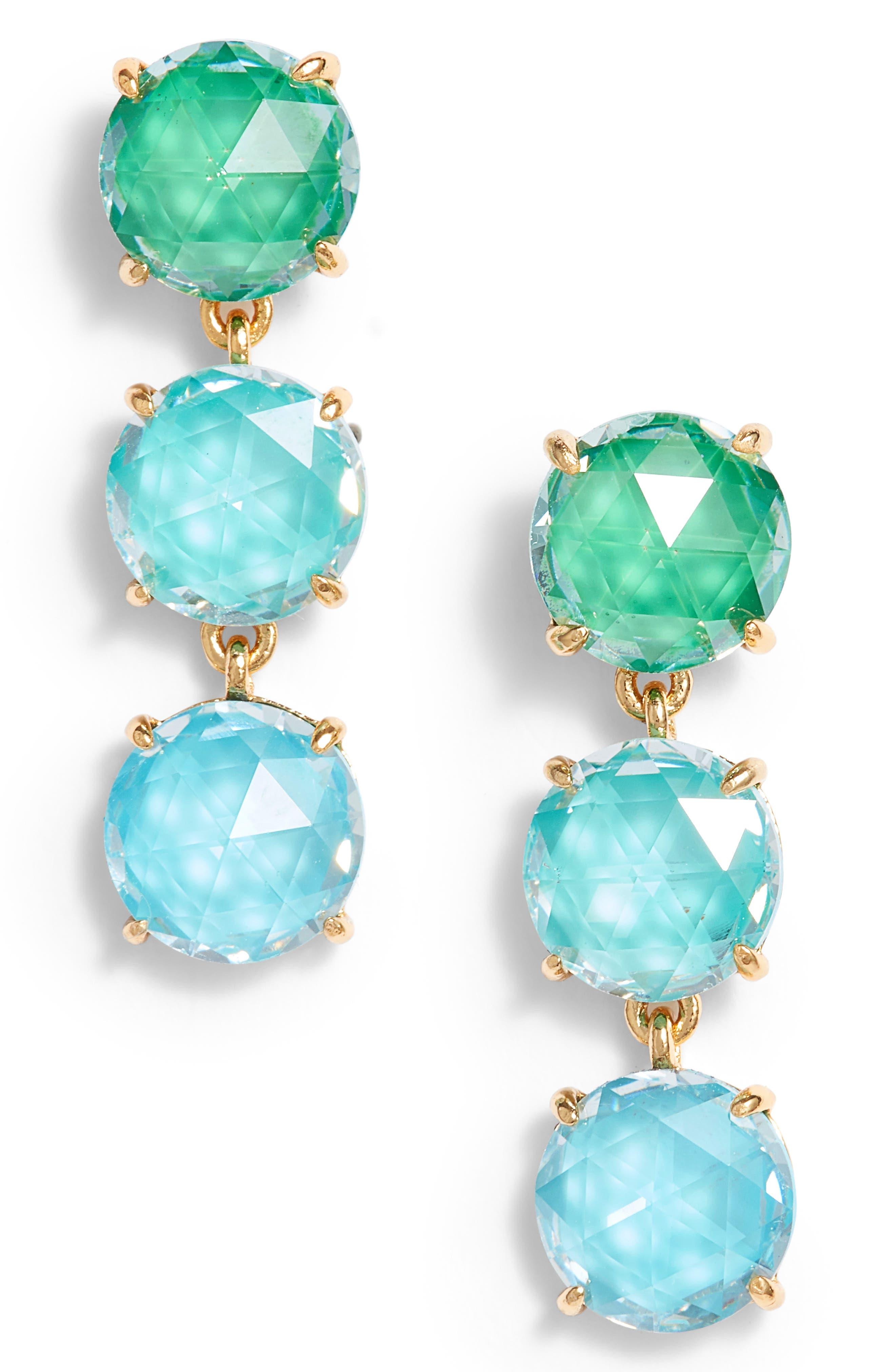 kate spade new york bright ideas triple drop earrings