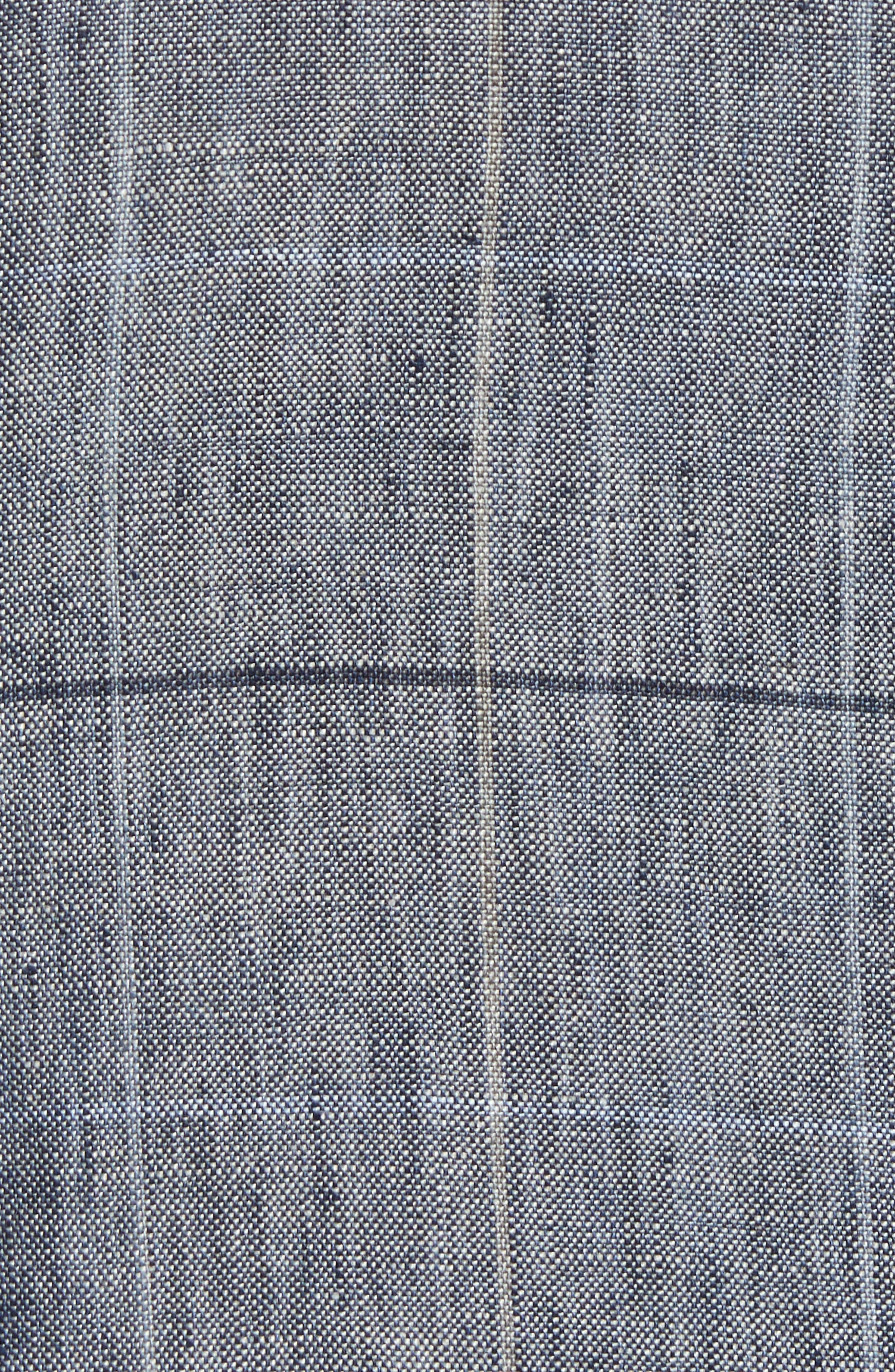 Vantage Trim Fit Windowpane Linen Sport Coat,                             Alternate thumbnail 5, color,                             Blue Graphite