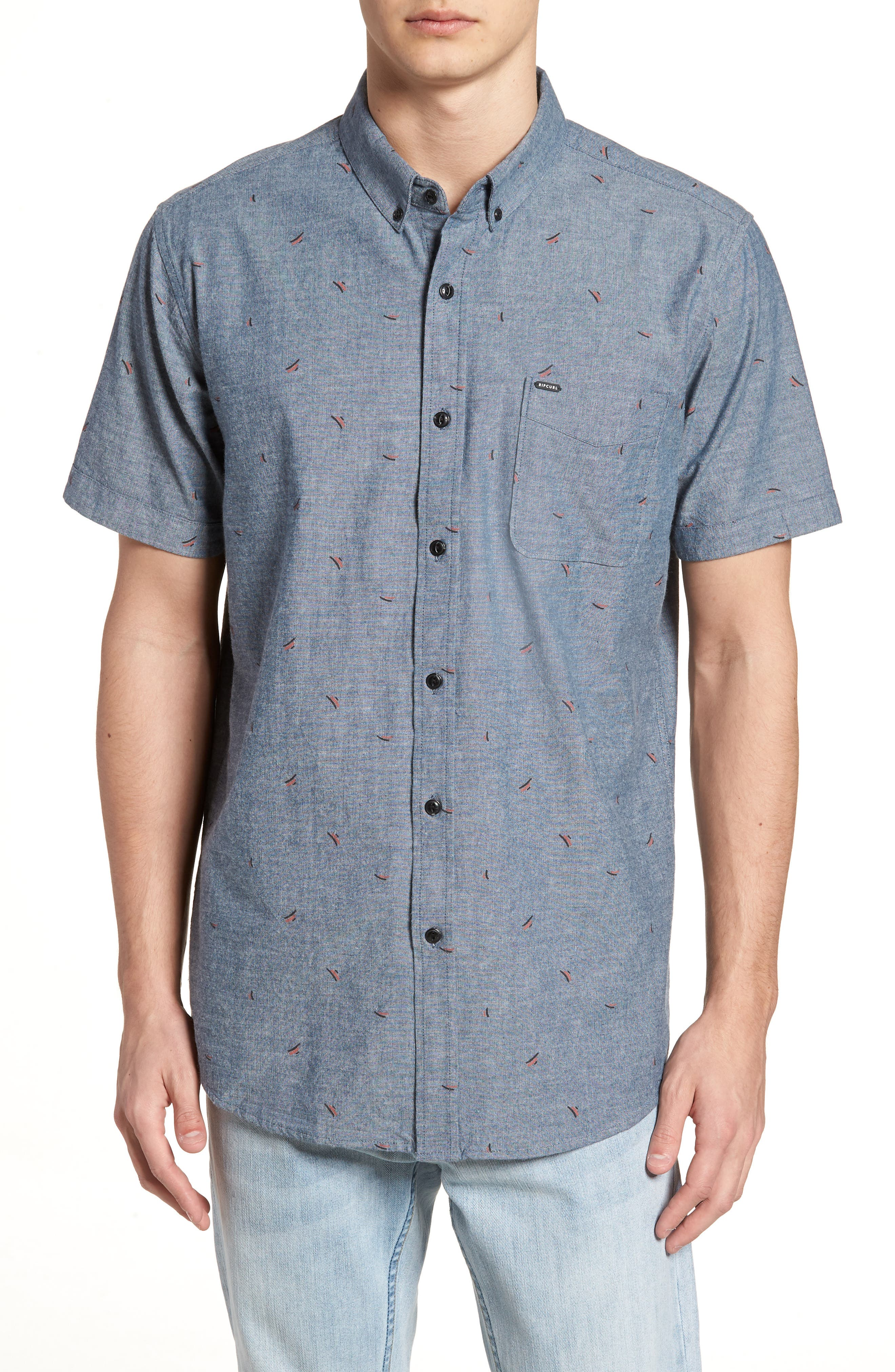 Northern Short Sleeve Shirt,                         Main,                         color, Blue