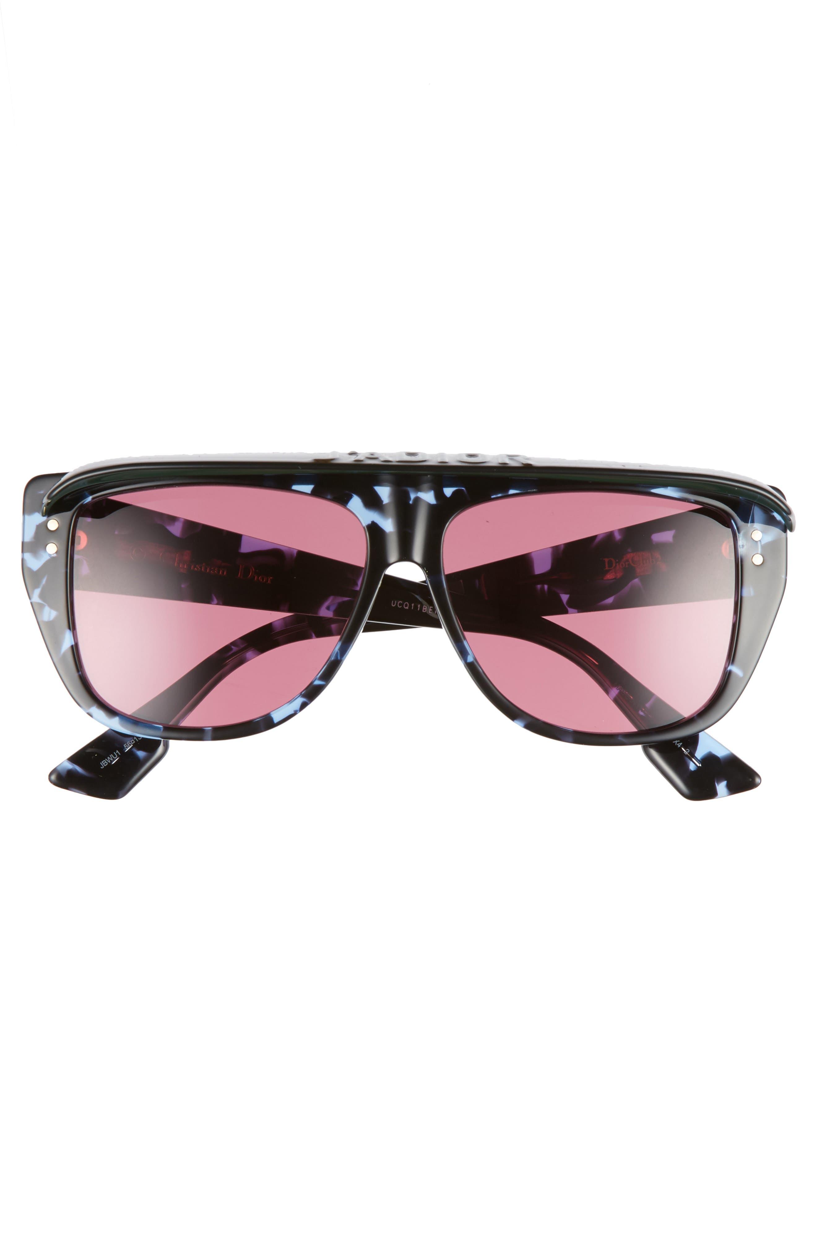 Alternate Image 3  - Dior DiorClub2S 56mm Square Sunglasses with Removable Visor