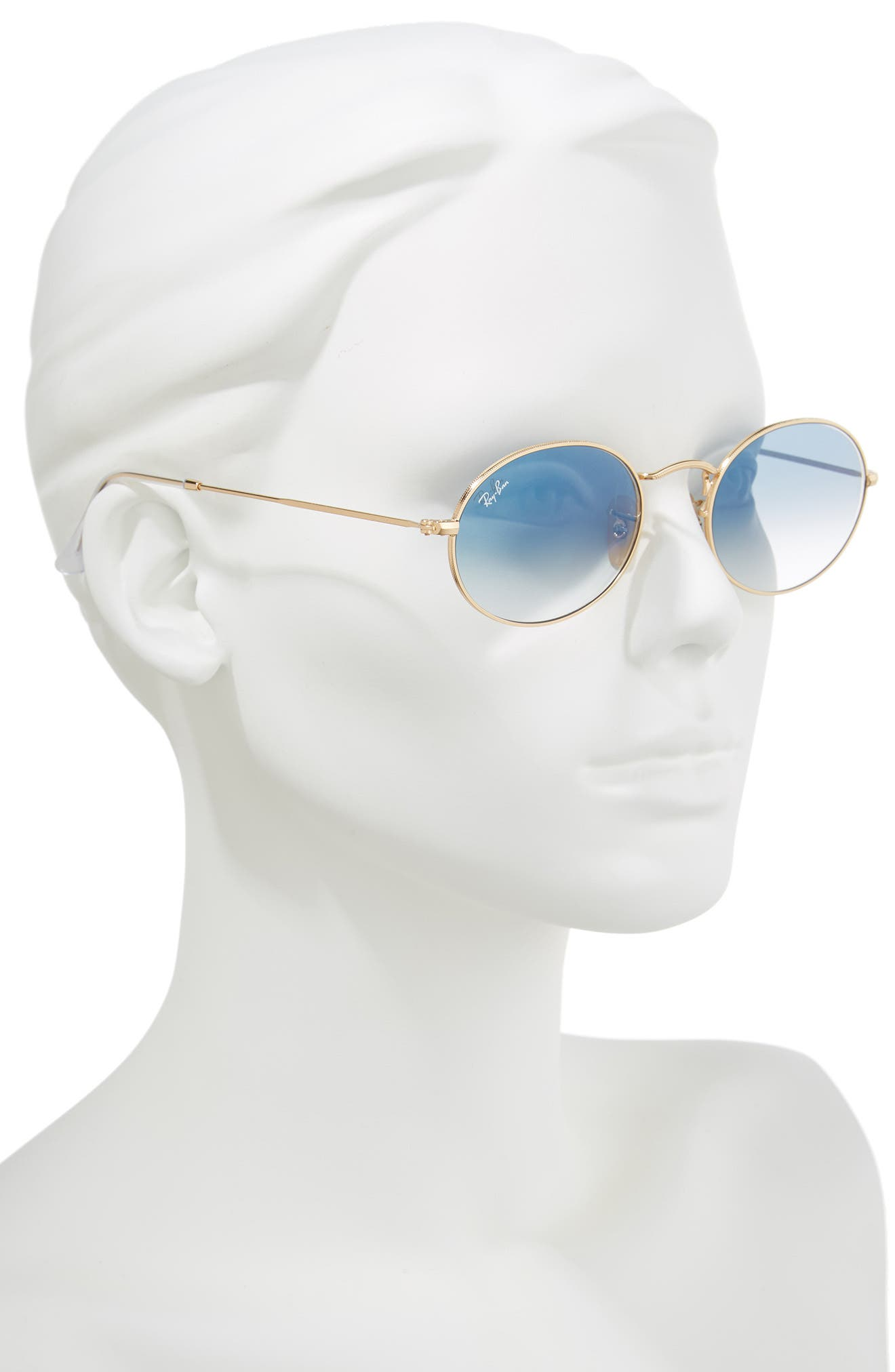 54mm Oval Sunglasses,                             Alternate thumbnail 2, color,                             Gold