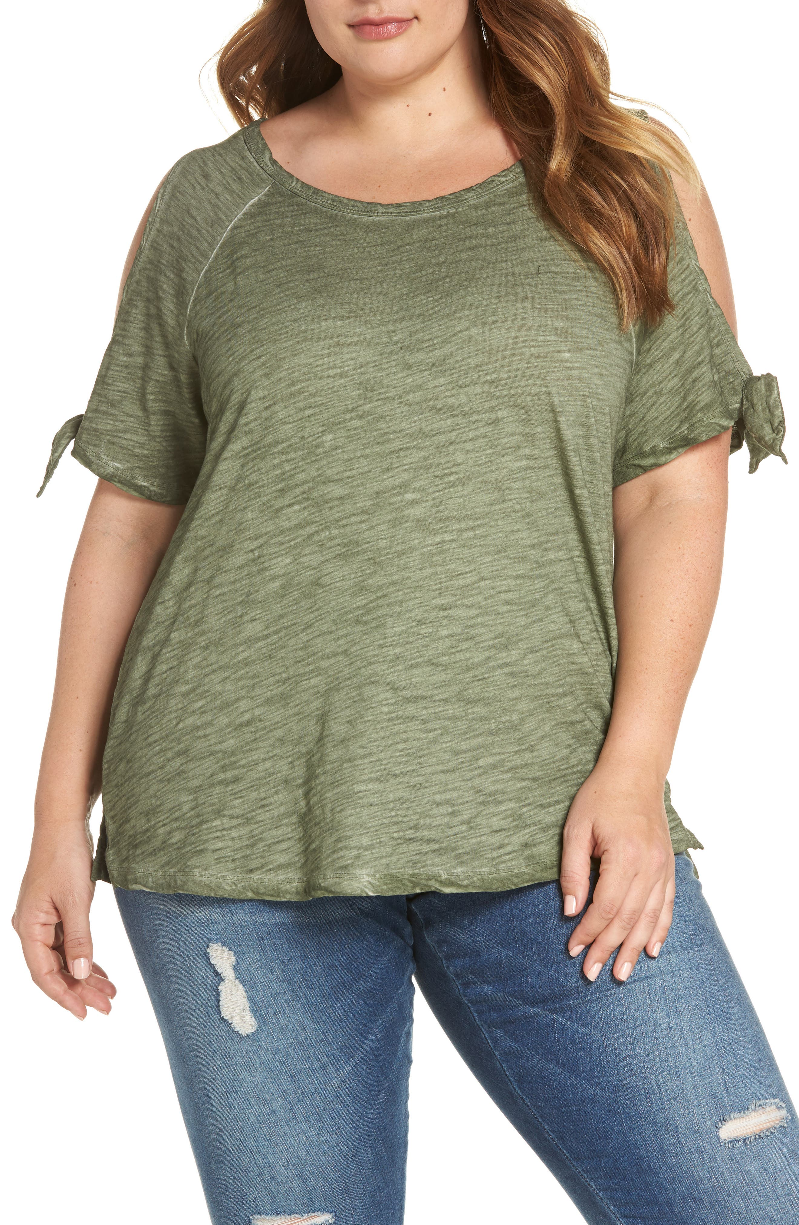 Sanctuary Lou Lou Cold Shoulder Tee (Plus Size)