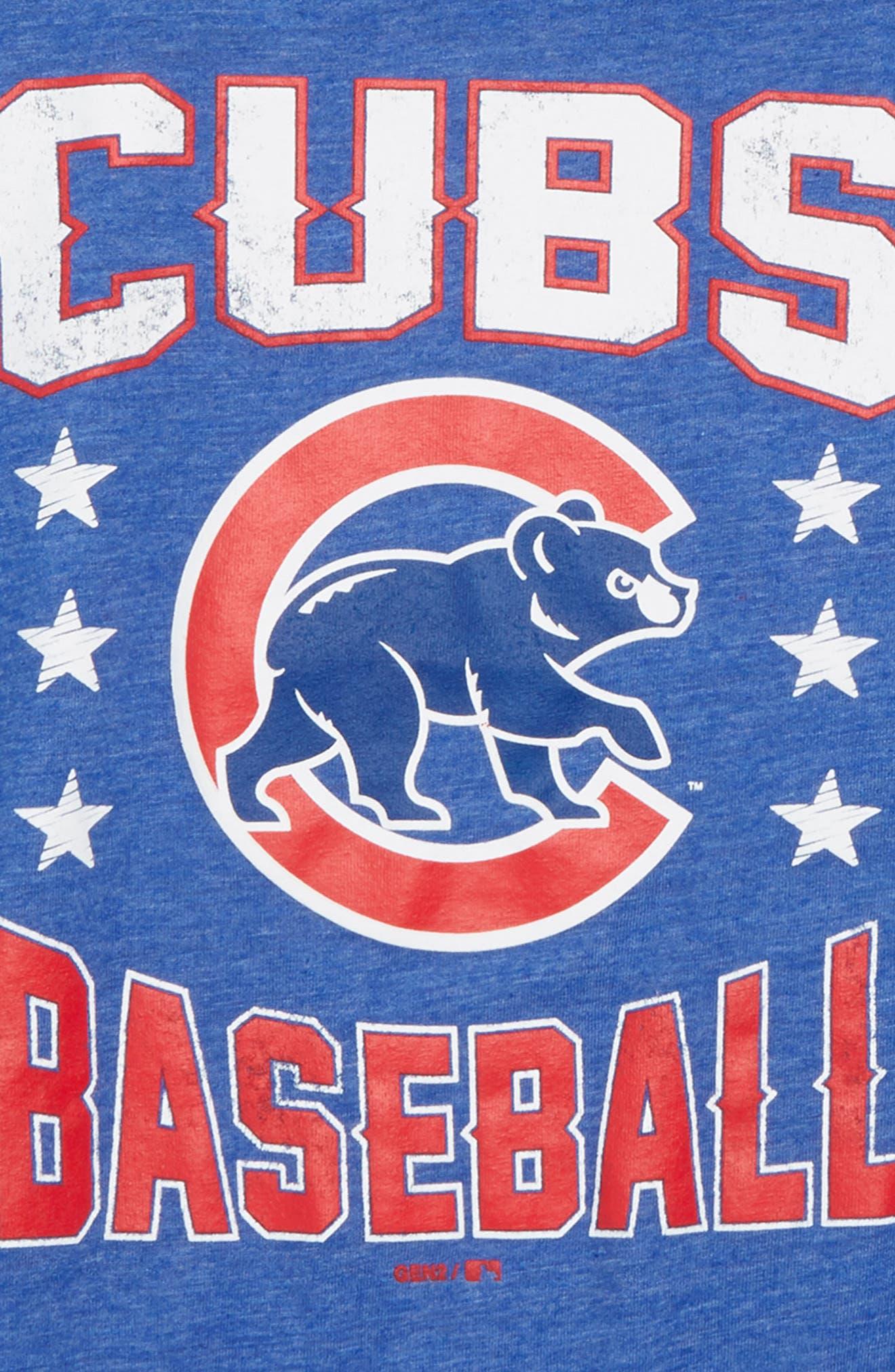 Chicago Cubs Triple Play T-Shirt,                             Alternate thumbnail 2, color,                             Royal
