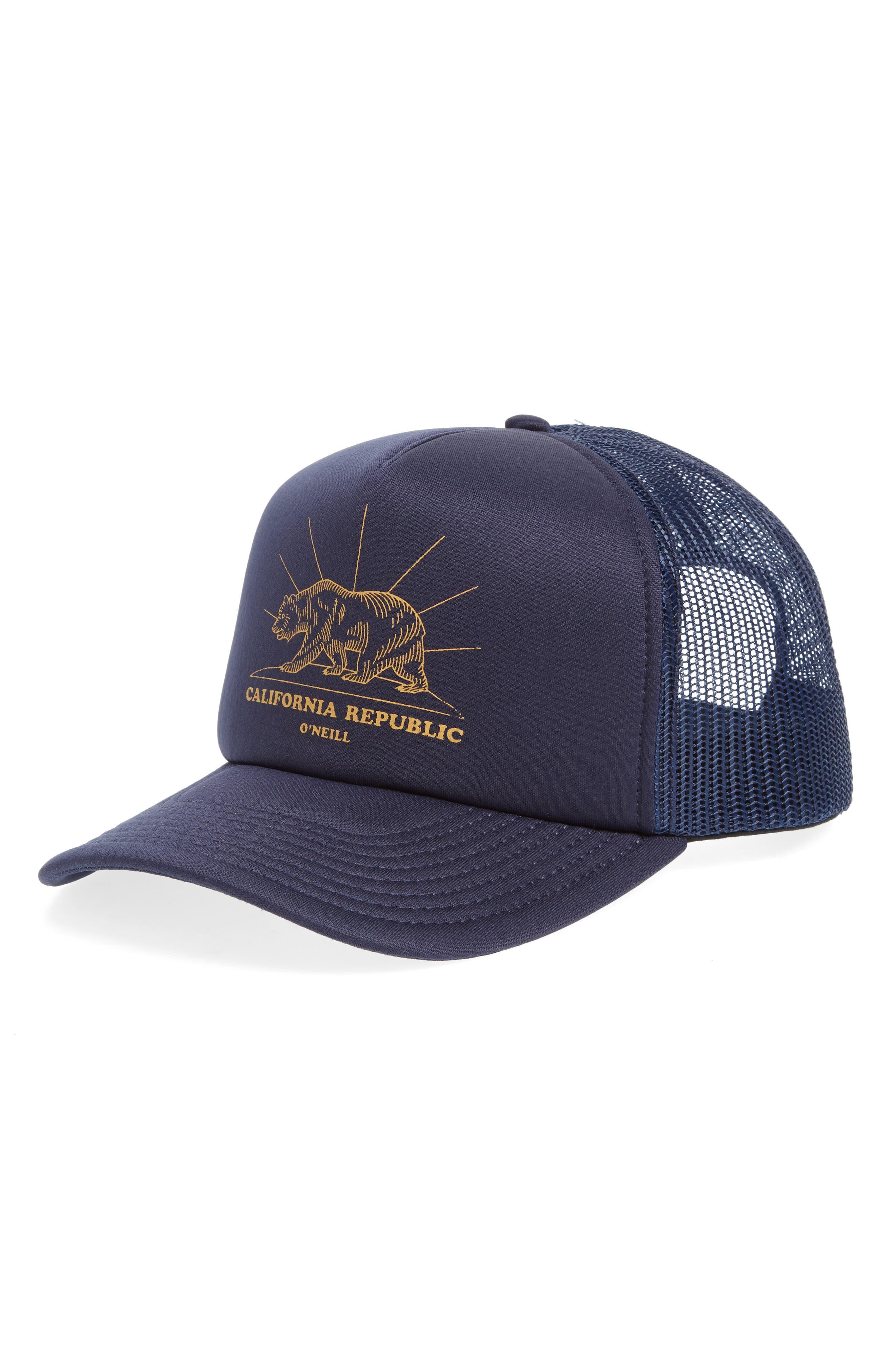 Yardsale Trucker Hat,                             Main thumbnail 1, color,                             Navy