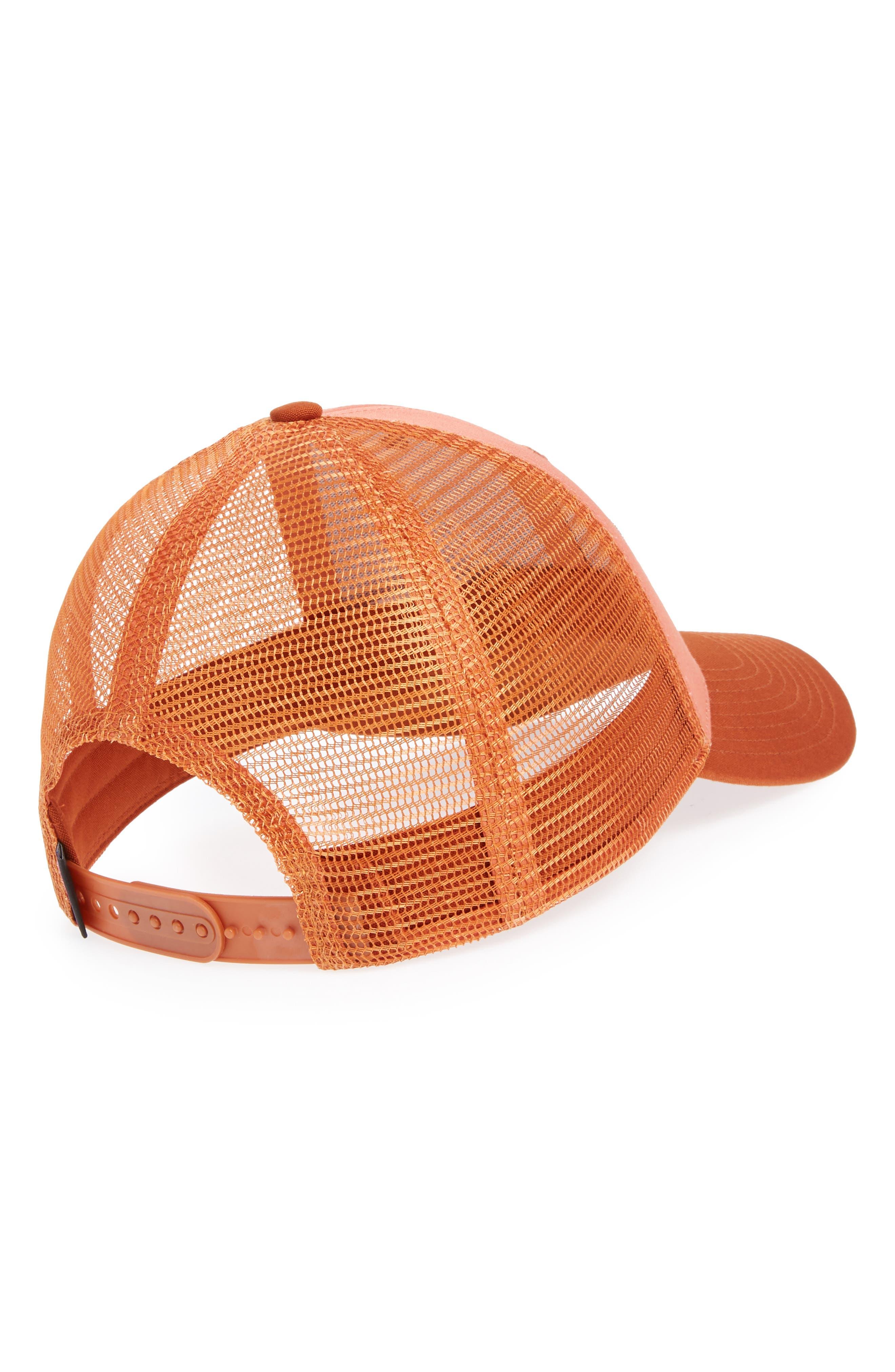 Shop Sticker Trucker Hat,                             Alternate thumbnail 2, color,                             Quartz Coral