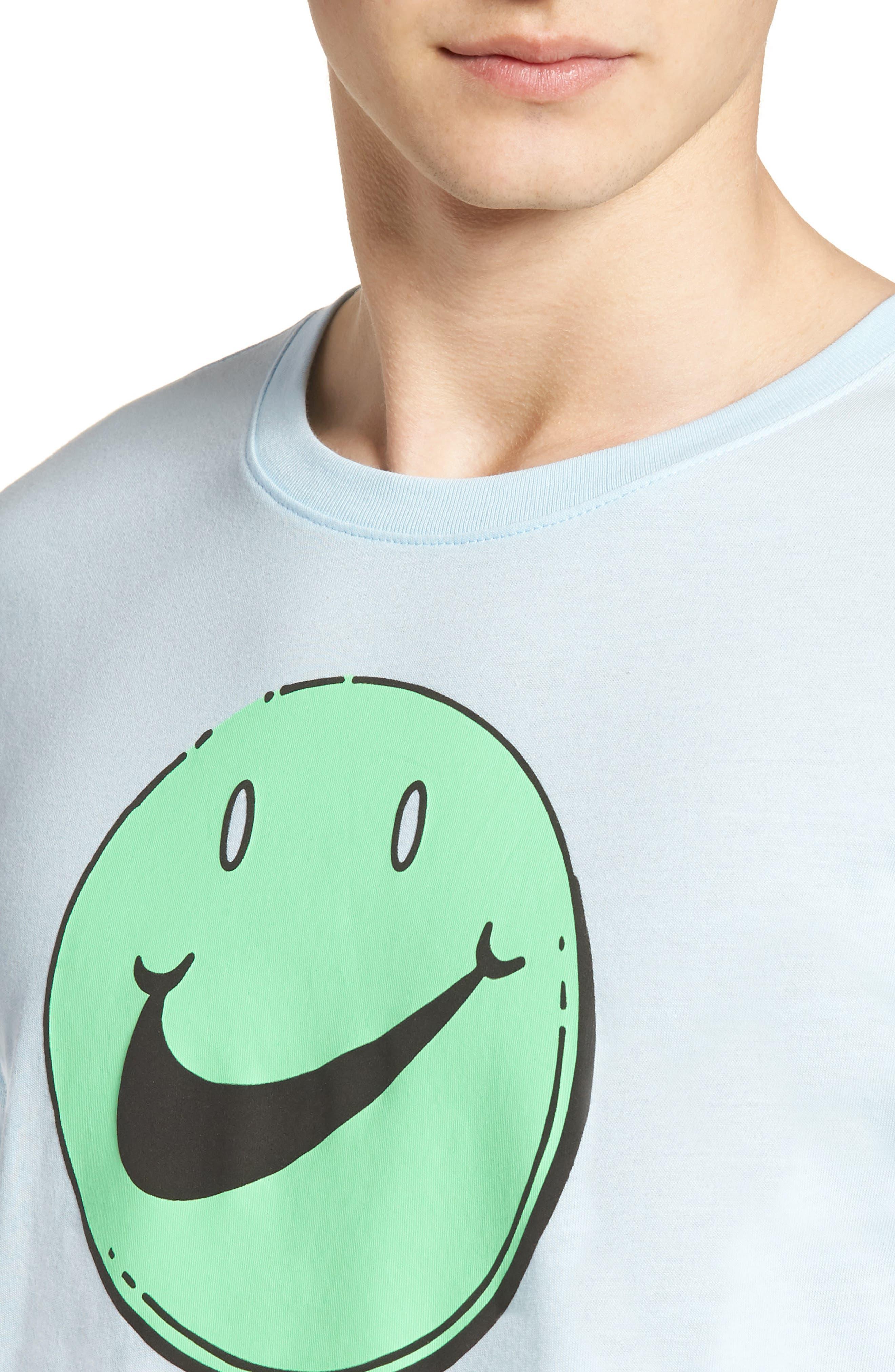 Concept Graphic T-Shirt,                             Alternate thumbnail 4, color,                             Cobalt Tint/ Illusion Green