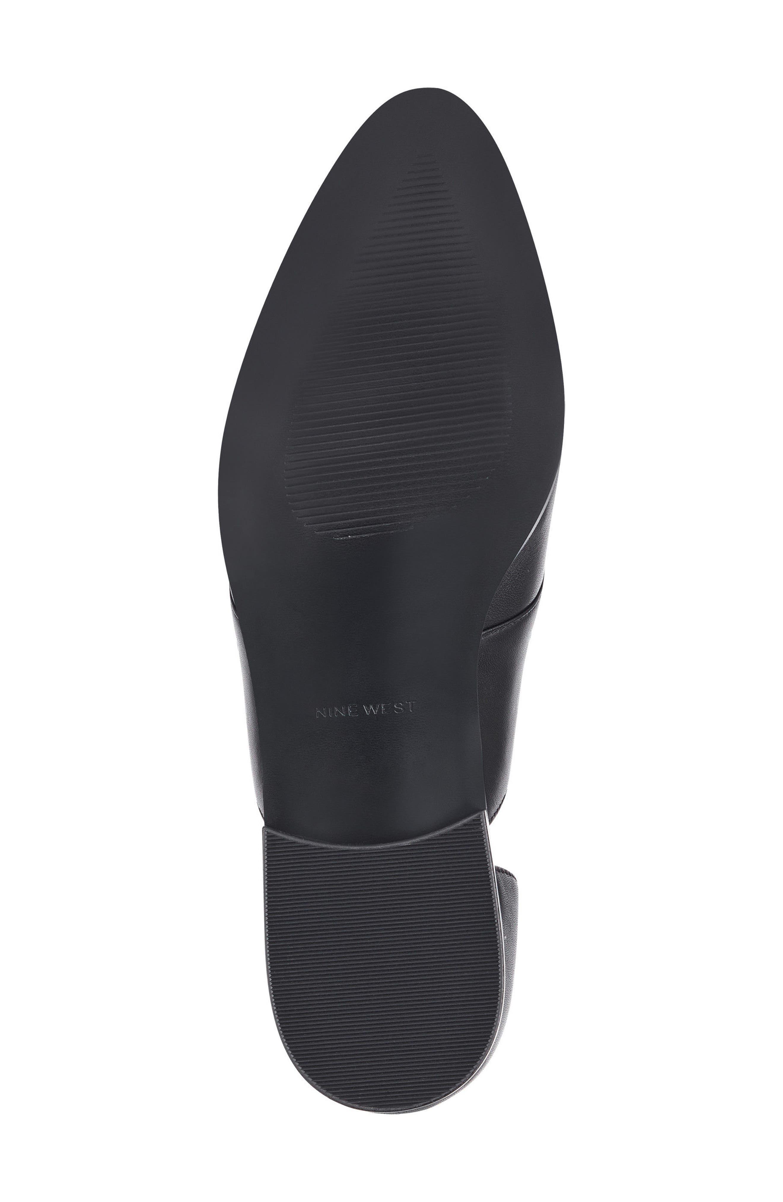 Woahalle Flat,                             Alternate thumbnail 6, color,                             Black Leather