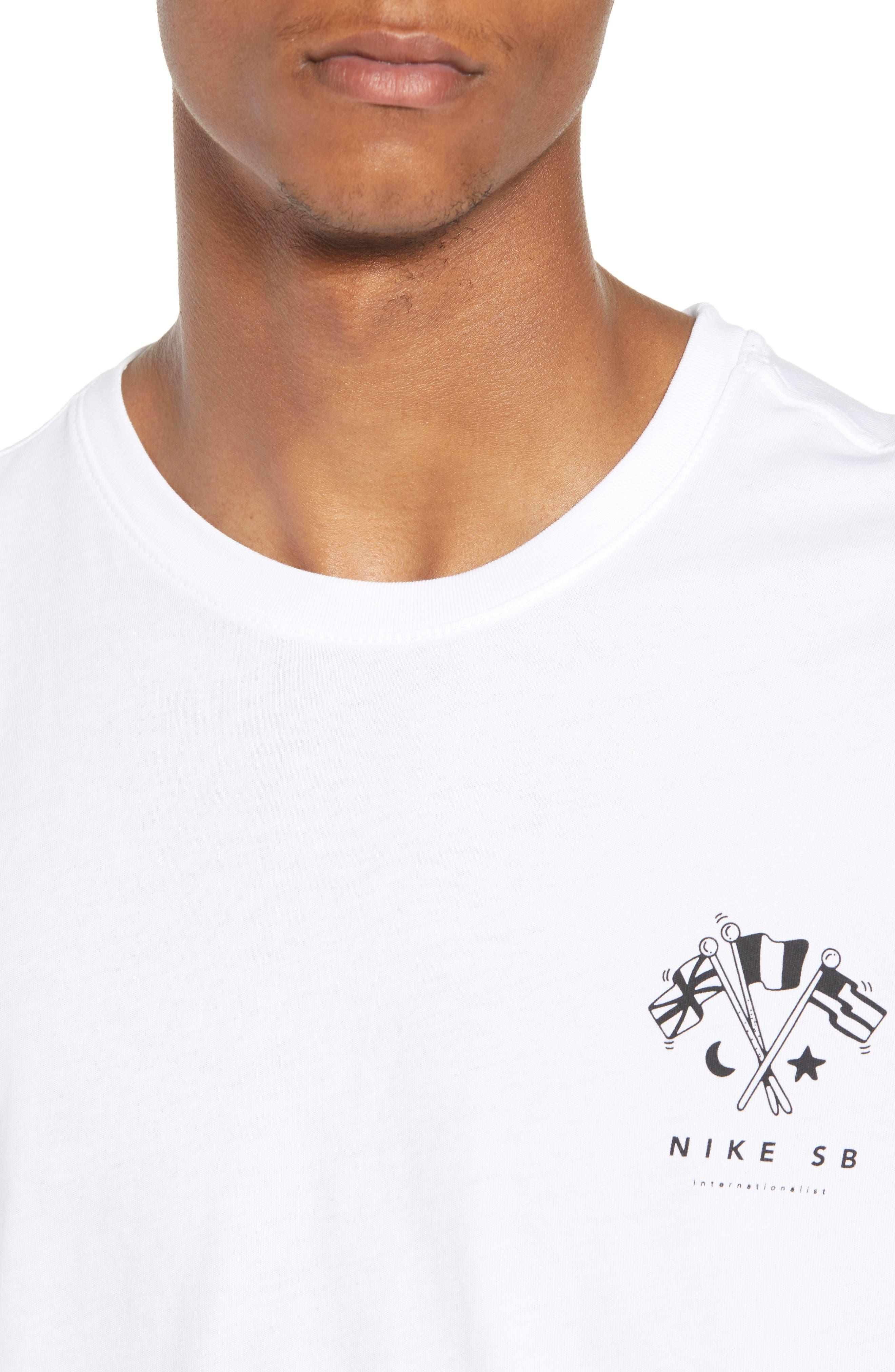 SB Monuments T-Shirt,                             Alternate thumbnail 4, color,                             White/ Black