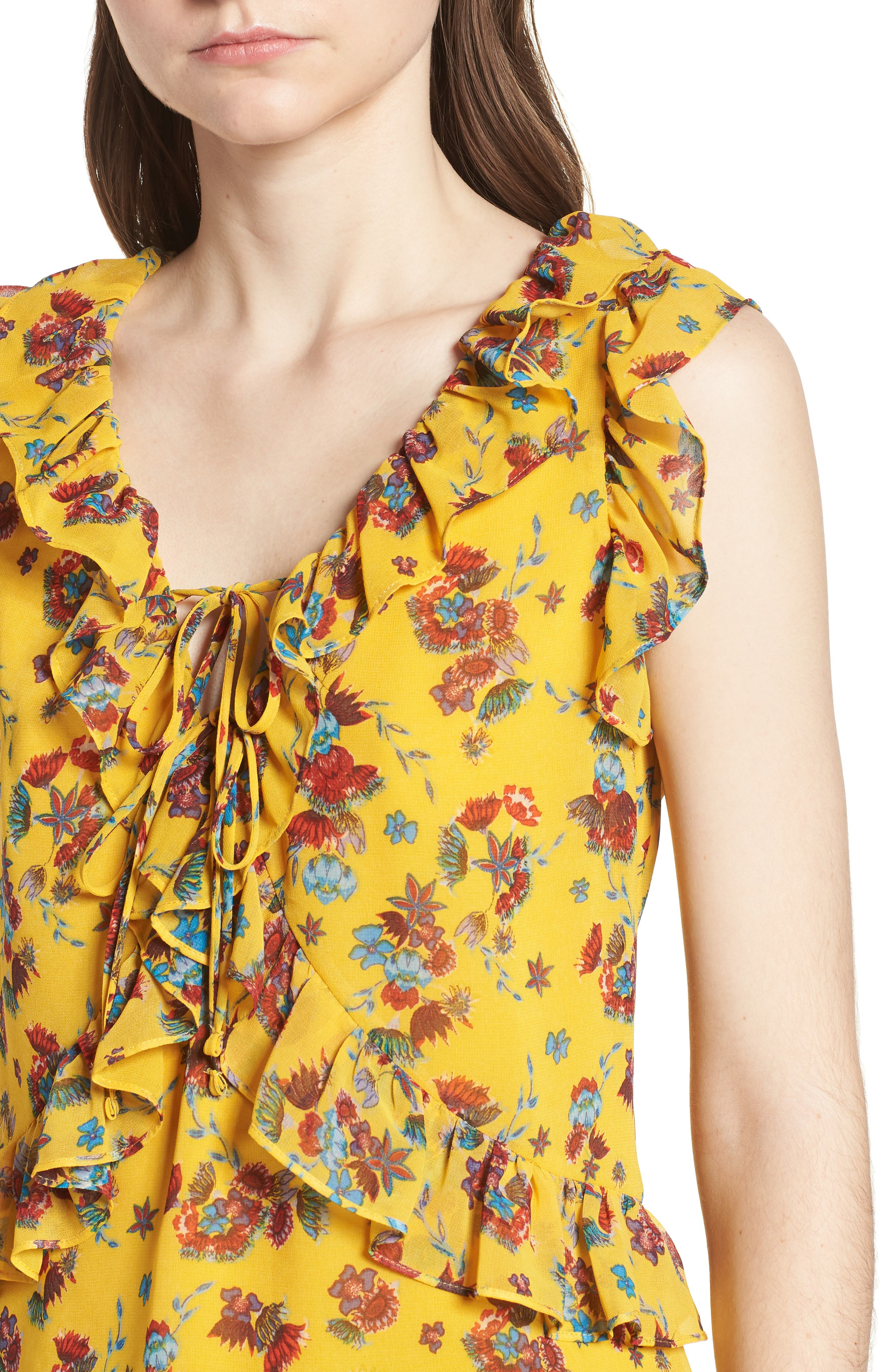 Daisy Top,                             Alternate thumbnail 4, color,                             Yellow Multi