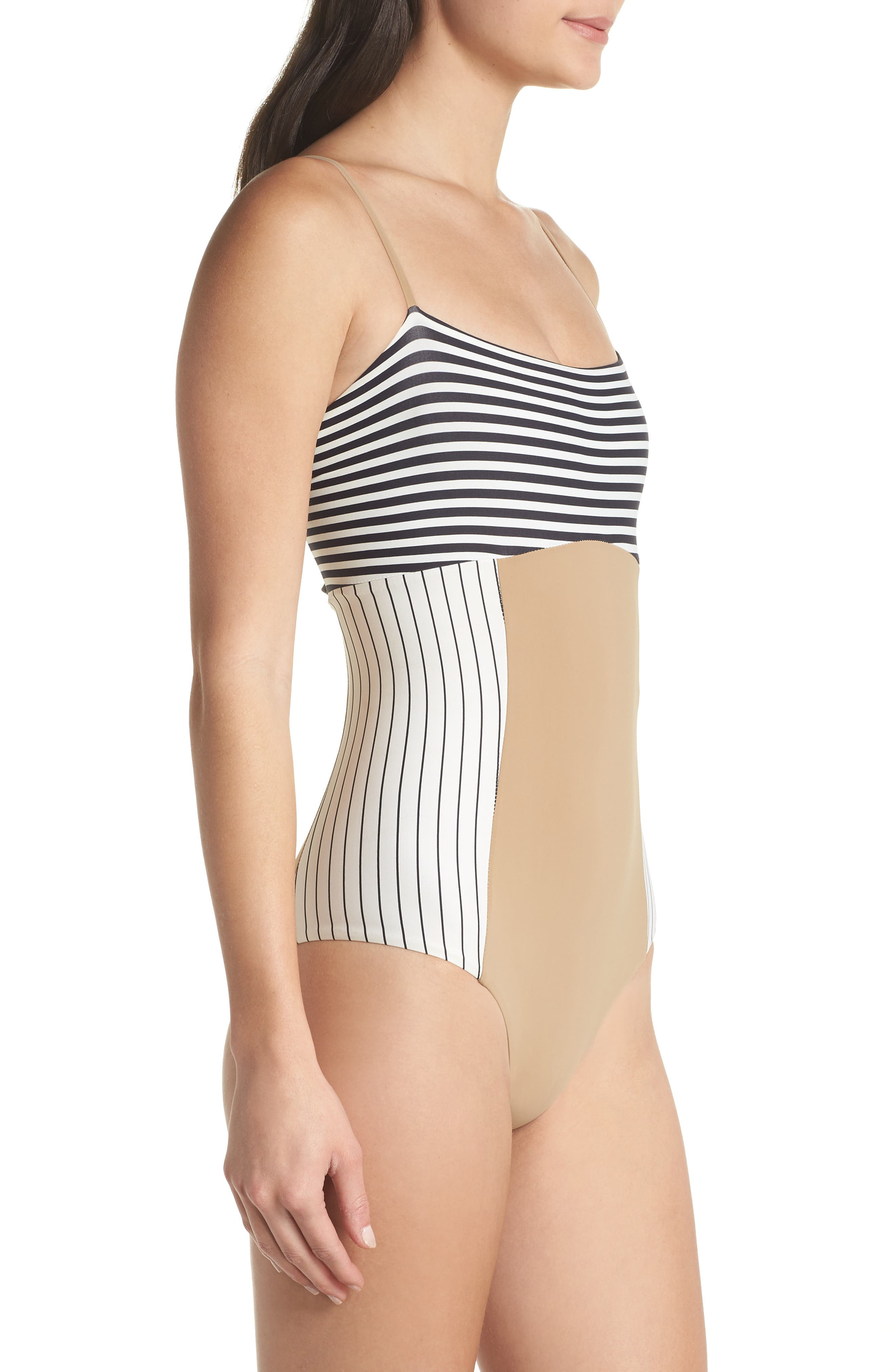 Finn One-Piece Swimsuit,                             Alternate thumbnail 3, color,                             Business Casual