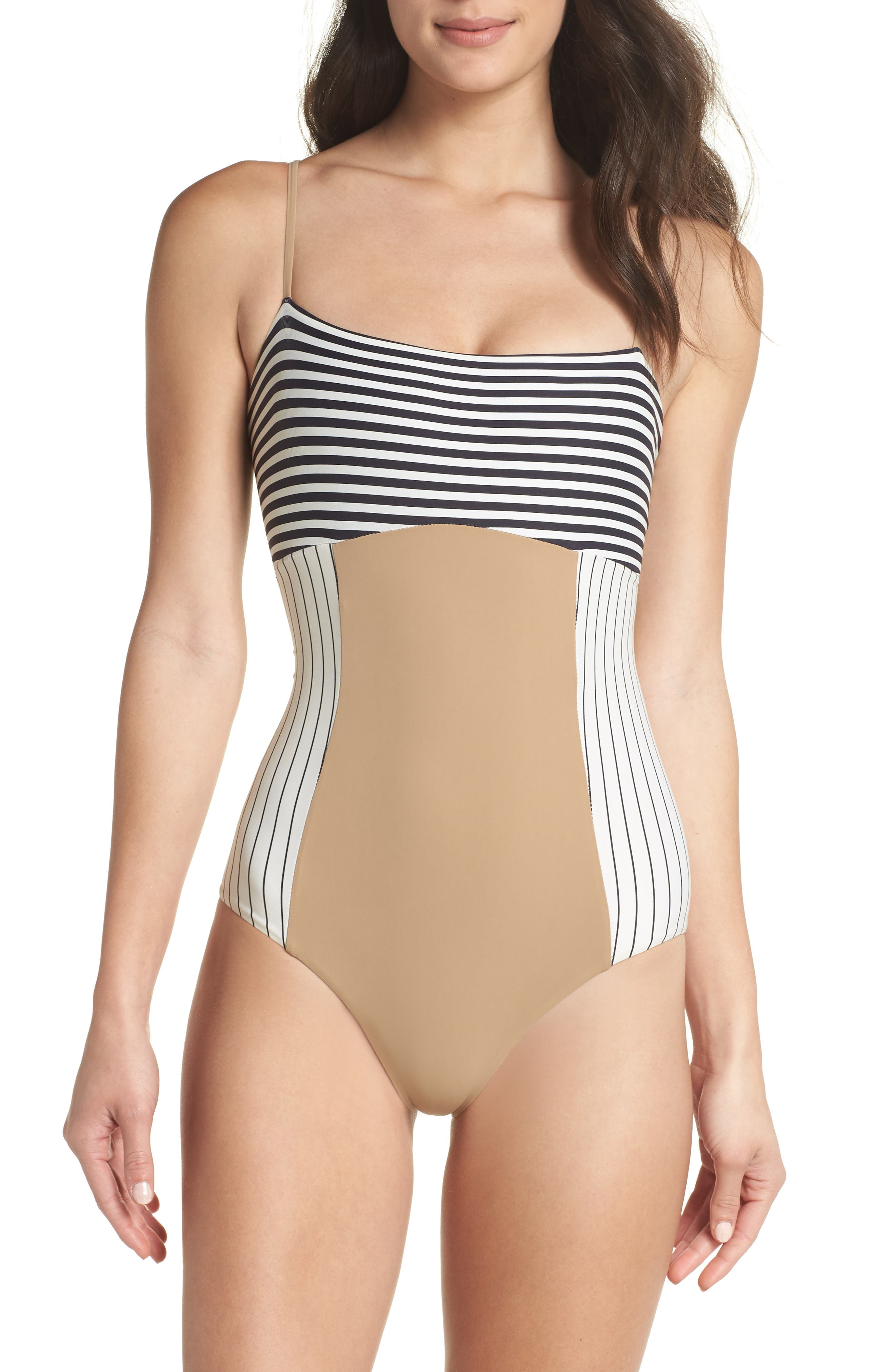 Finn One-Piece Swimsuit,                             Main thumbnail 1, color,                             Business Casual