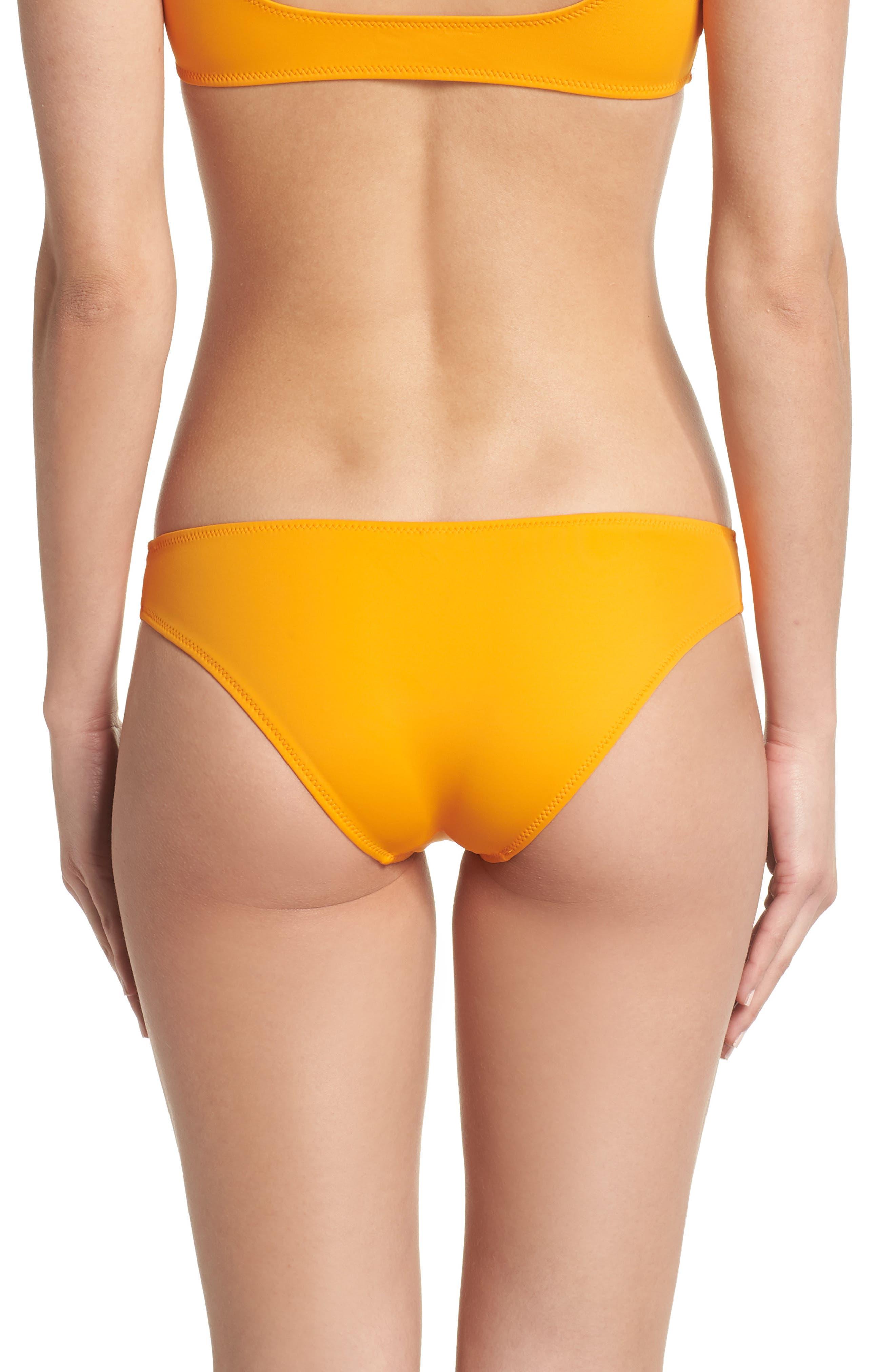 Elle Bikini Bottoms,                             Alternate thumbnail 4, color,                             Orange