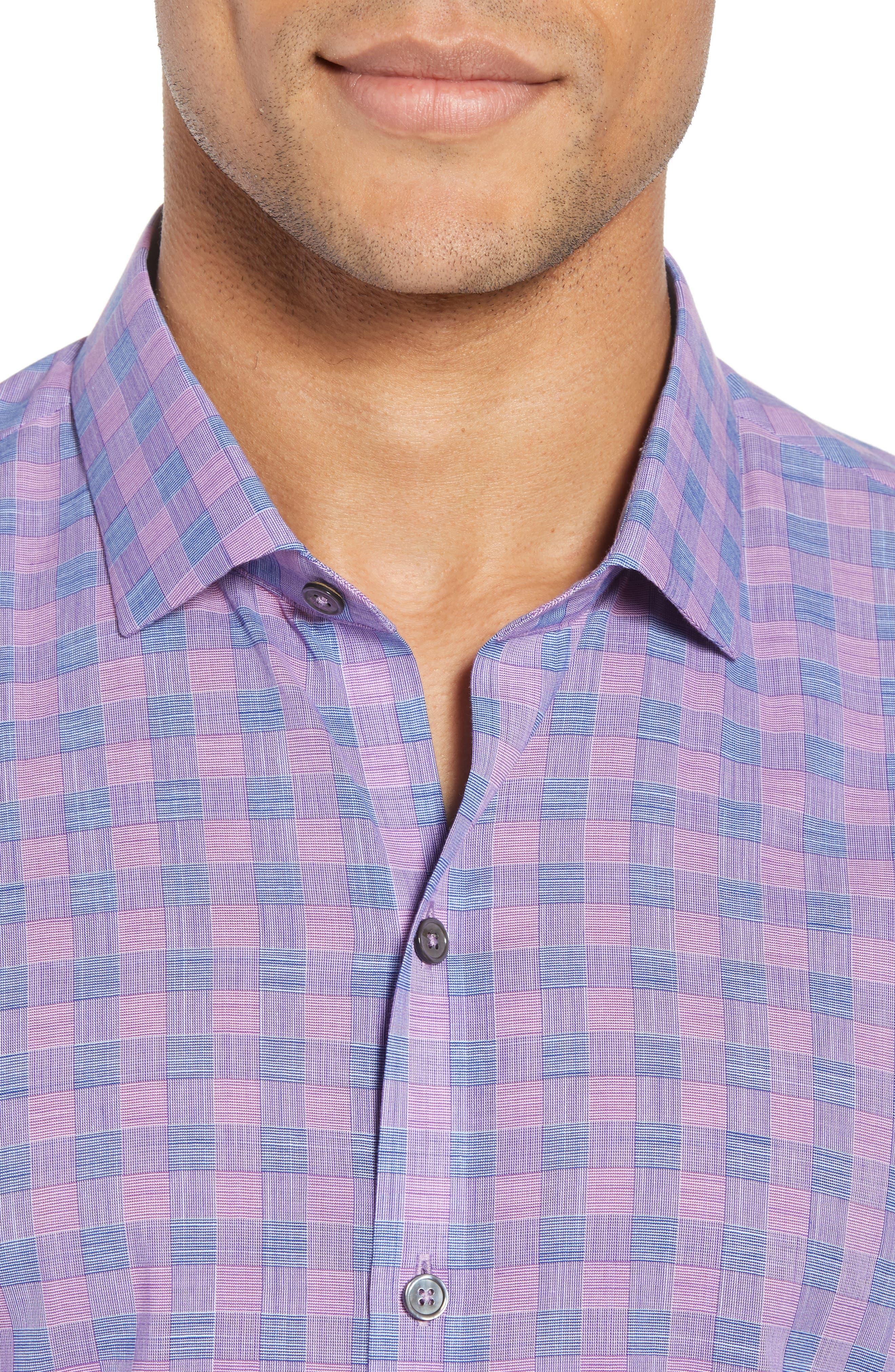 Schwantes Plaid Sport Shirt,                             Alternate thumbnail 2, color,                             Purple